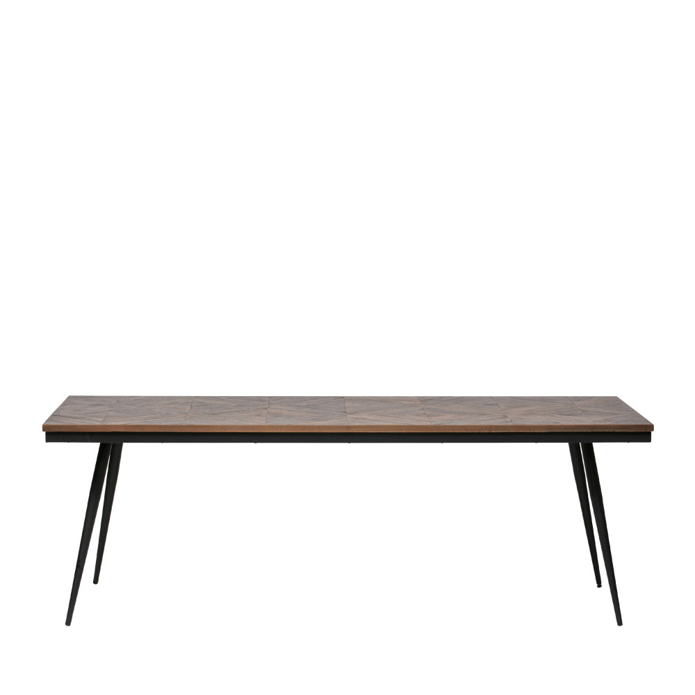 maison du monde Table à manger en bois et métal 220x90cm naturel