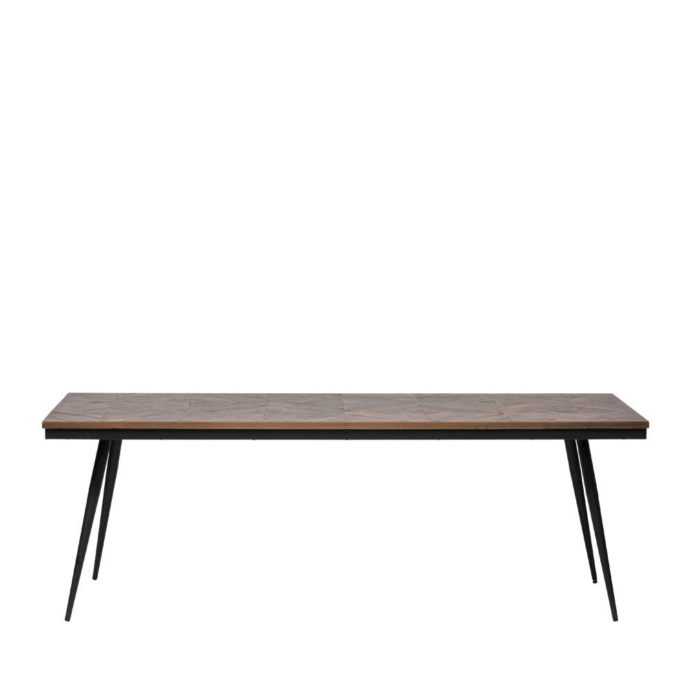 Table à manger en bois et métal 220x90cm