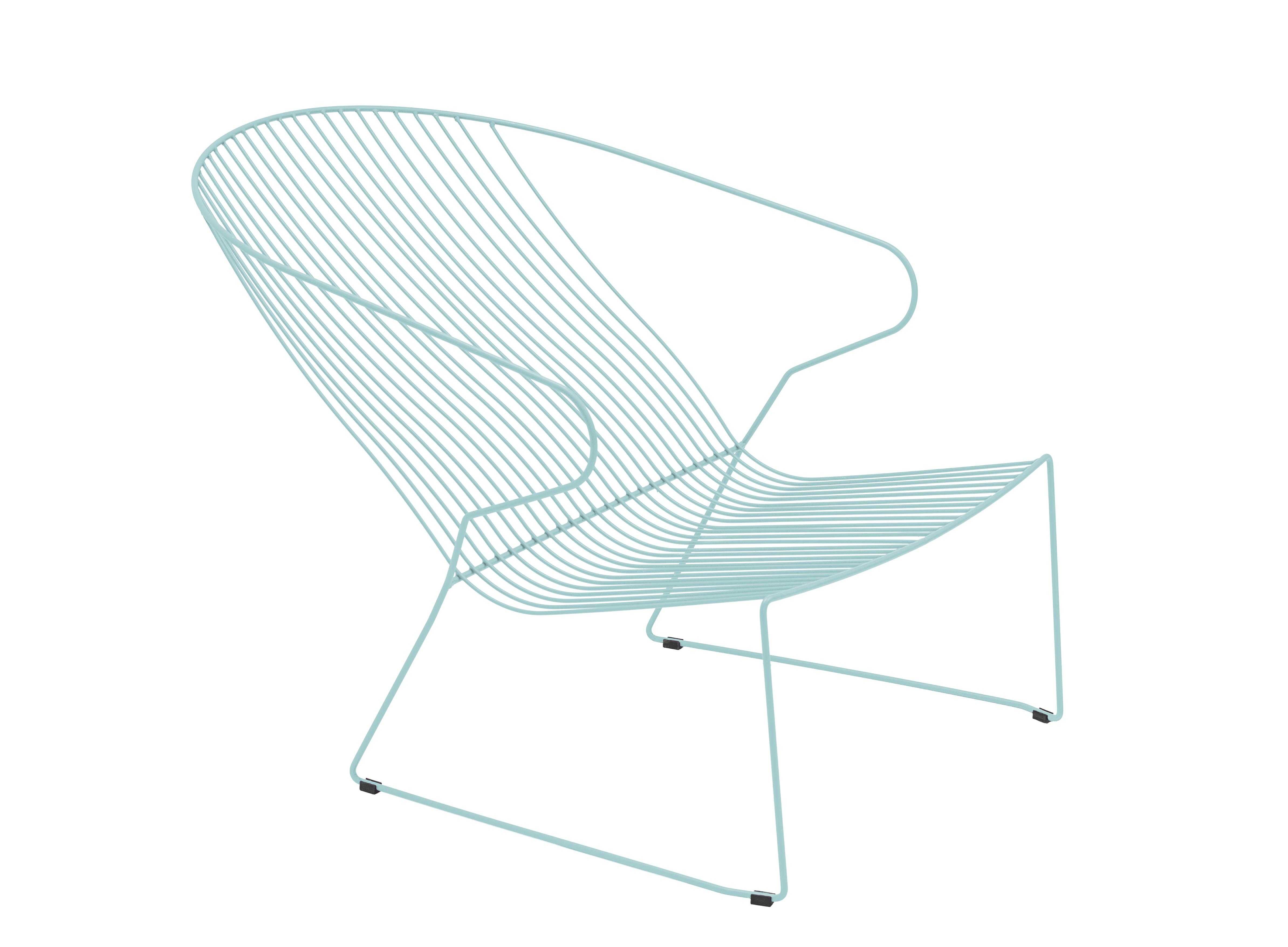Lounge en acier bleu