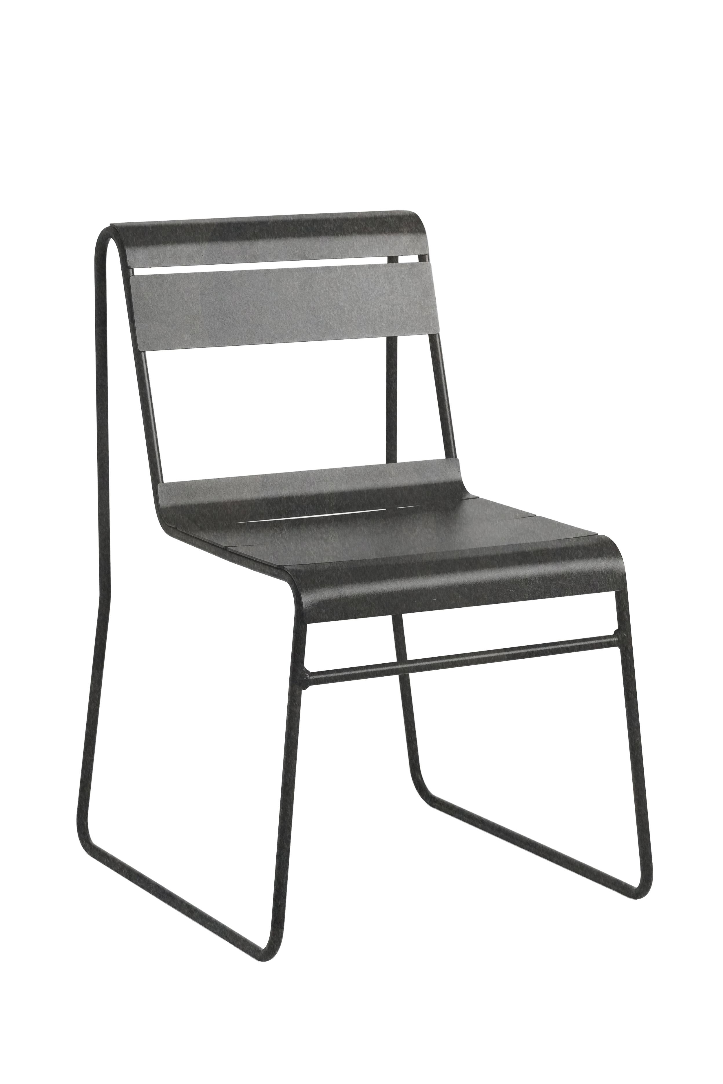 TOSCANA - Chaise en acier gris anthracite