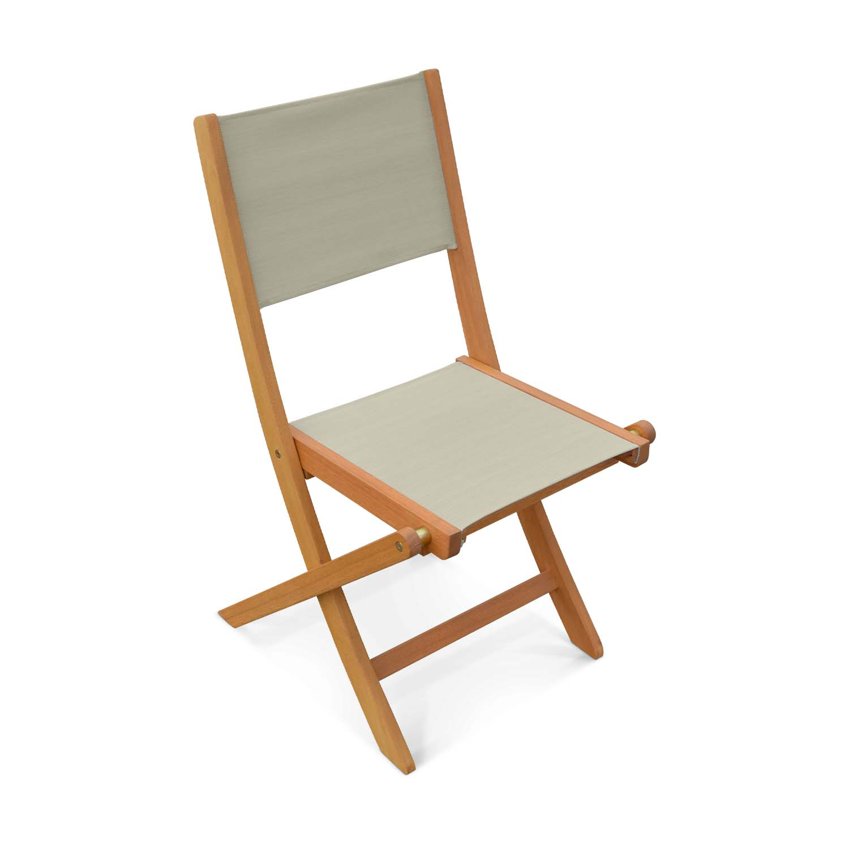 Lot de 2 chaises de jardin en bois gris