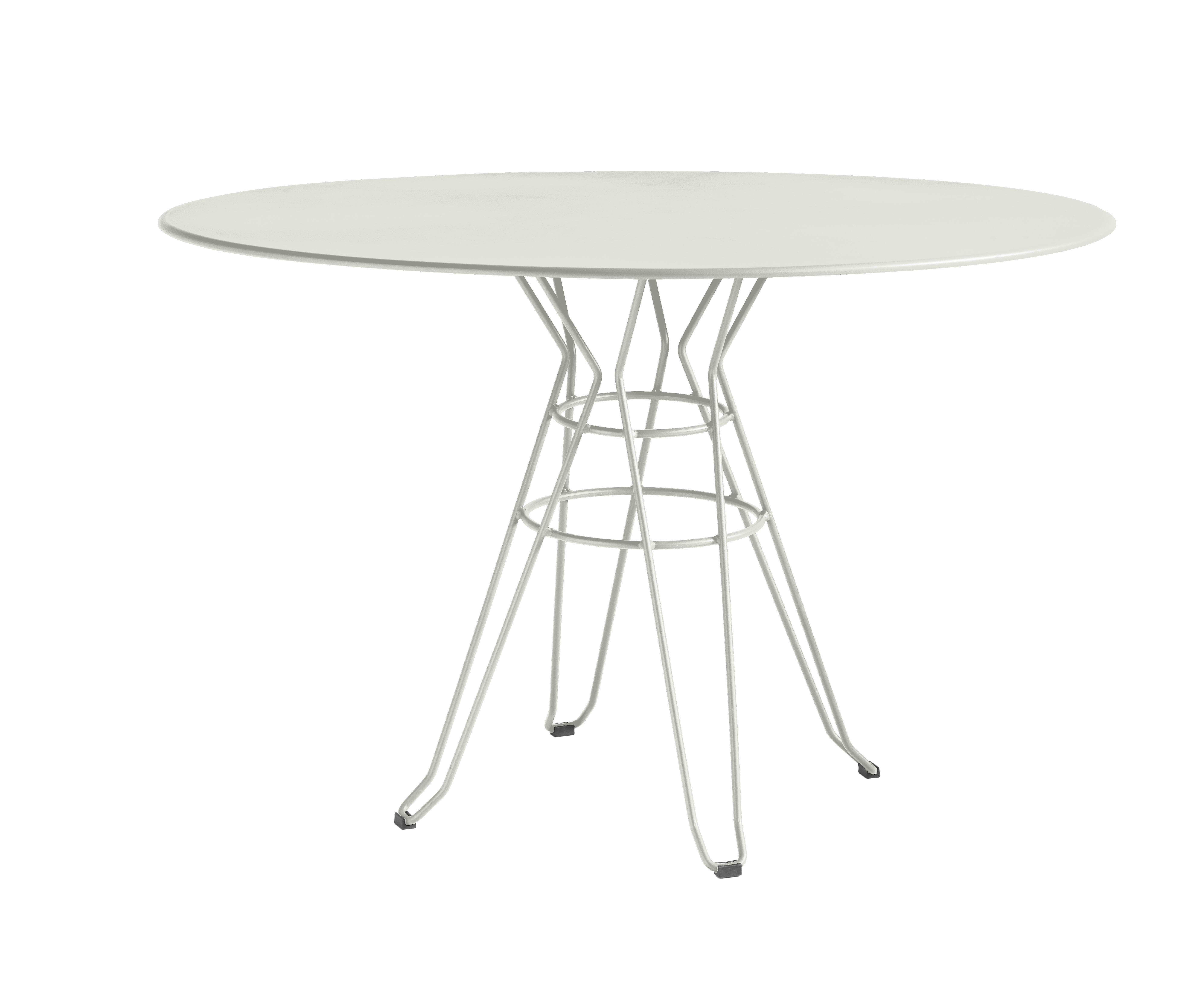 CAPRI - Table rond en acier blanc D110