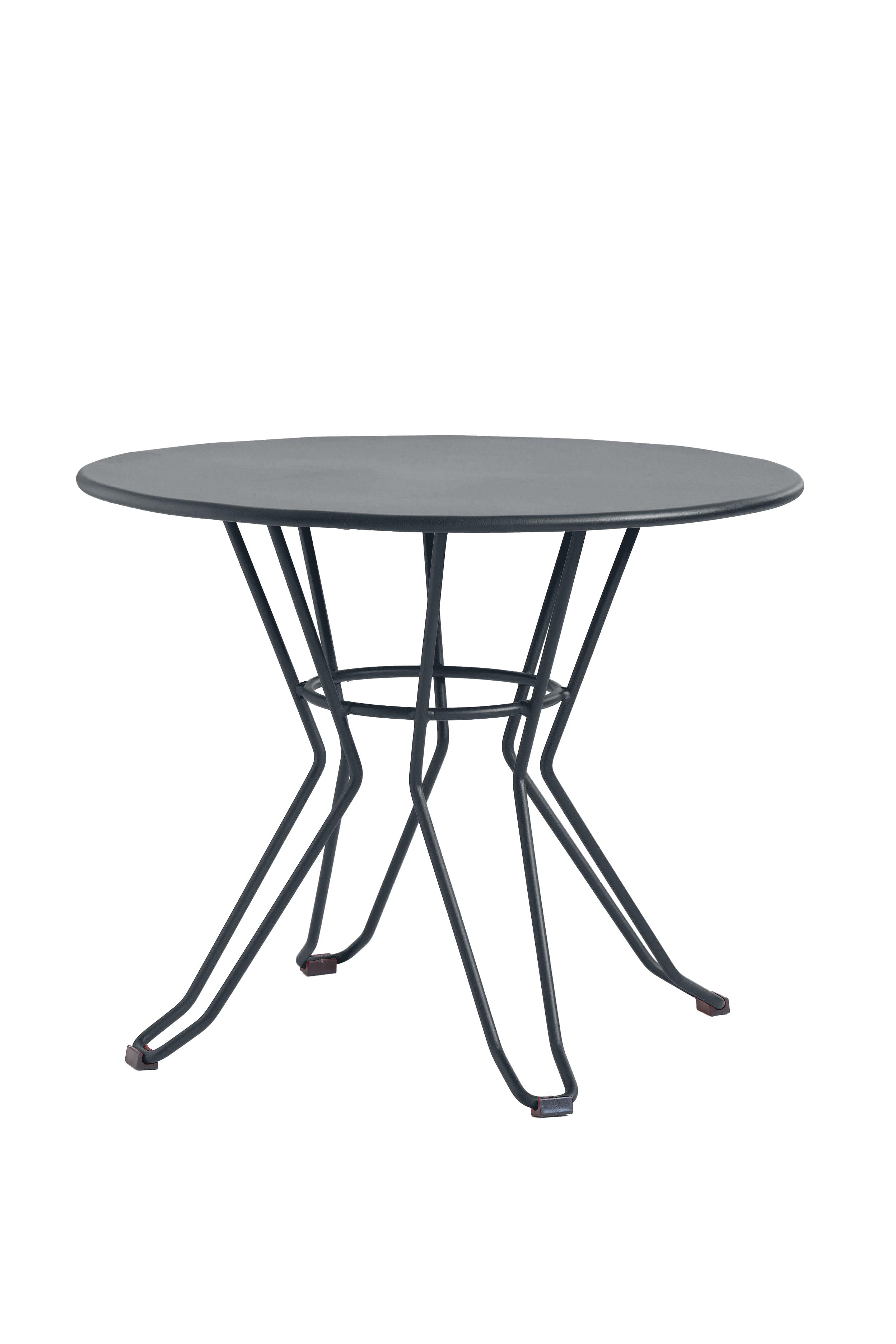 CAPRI - Table basse en acier gris D60