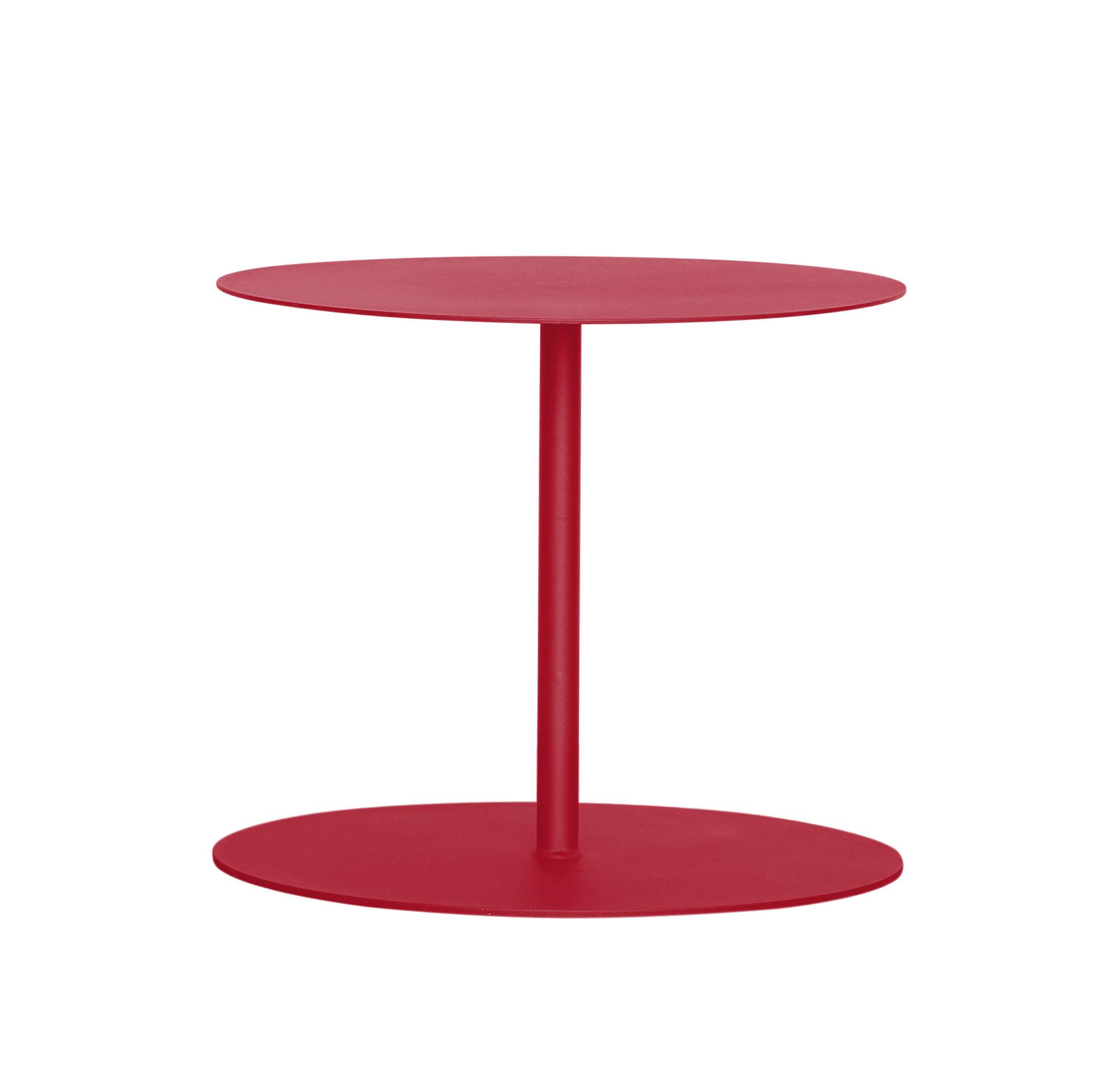 EIVISA - Table d'appoint en acier rouge D80