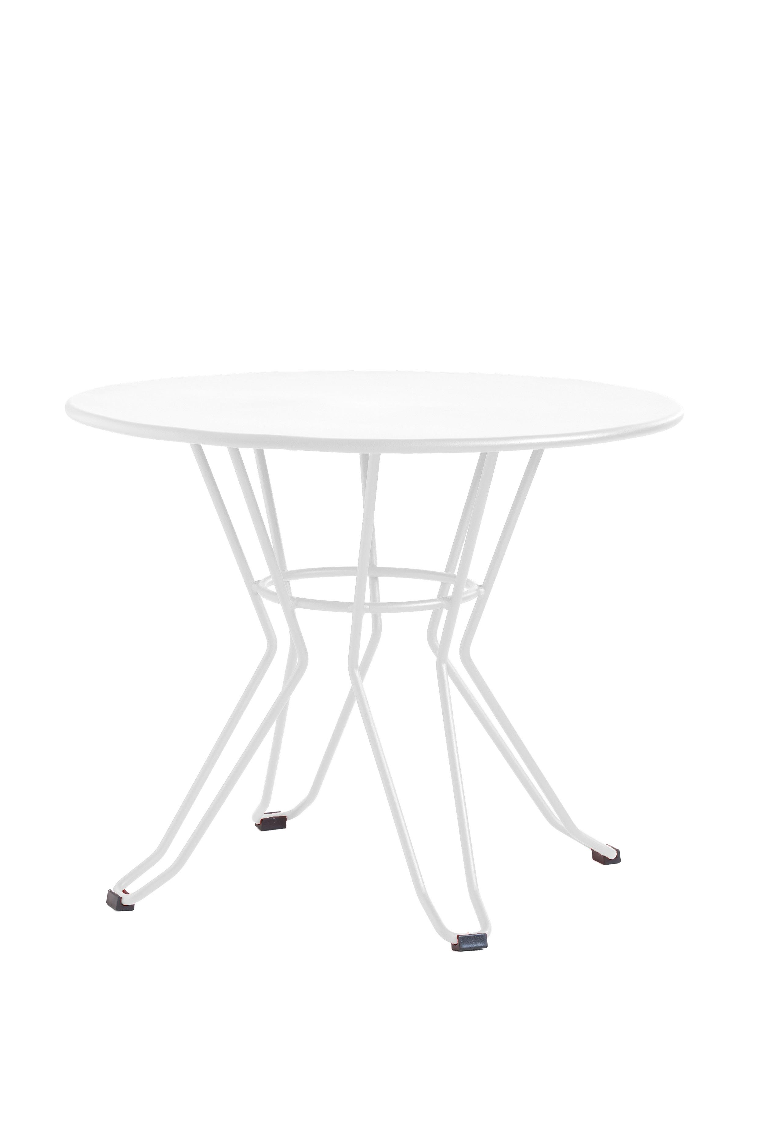 CAPRI - Table basse en acier blanc D60