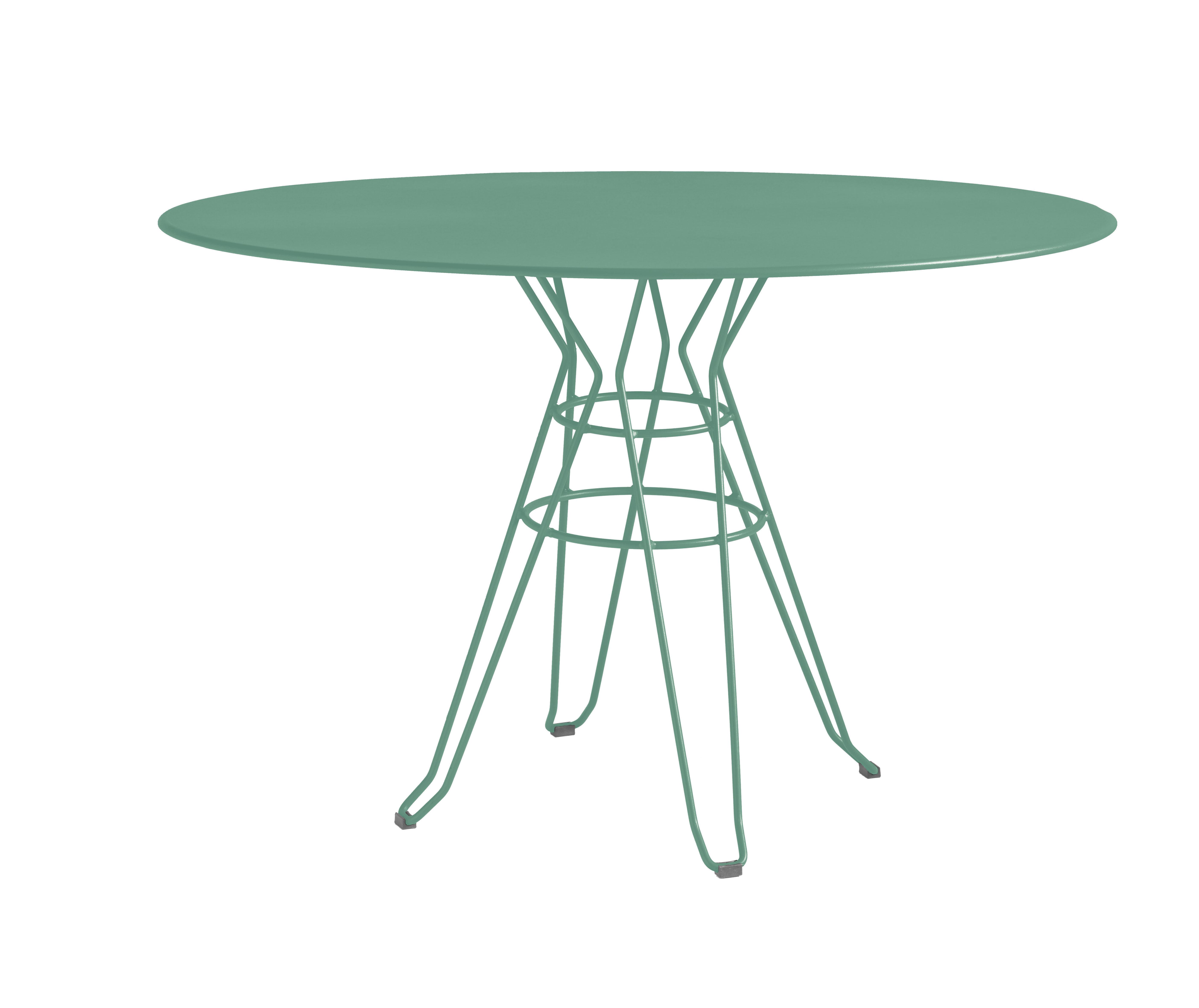 CAPRI - Table rond en acier vert D110
