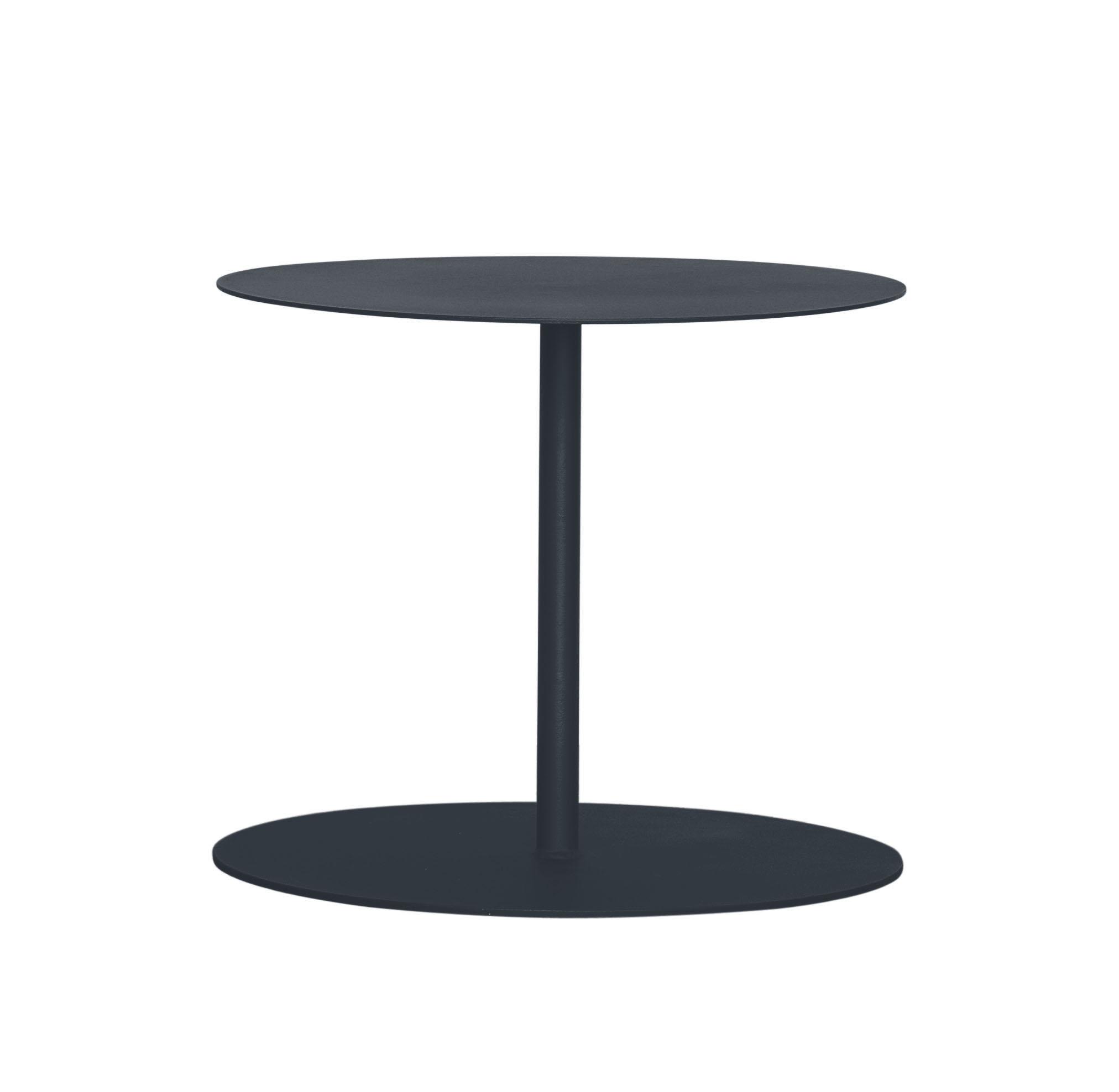 EIVISA - Table d'appoint en acier gris foncé D80