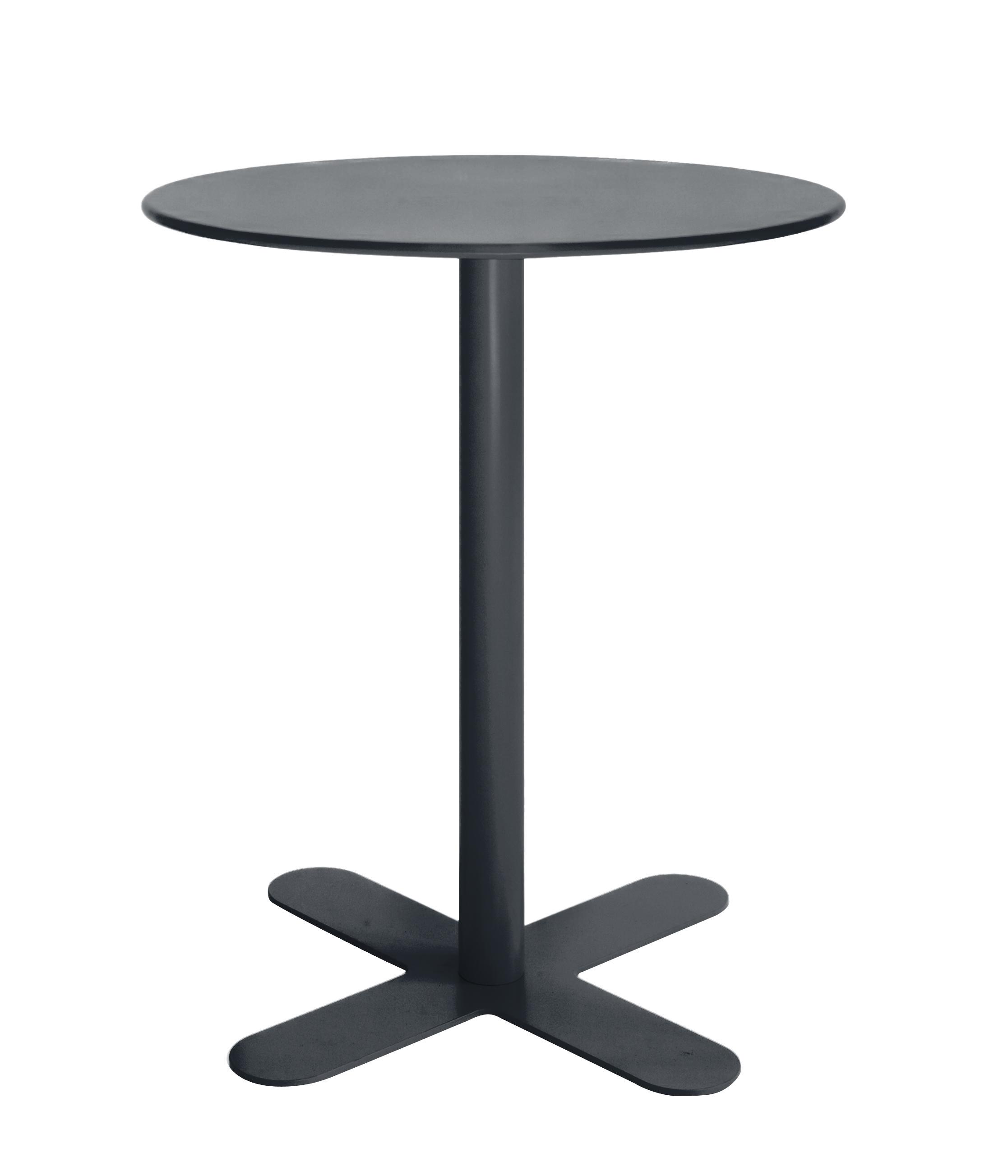 Table en acier gris