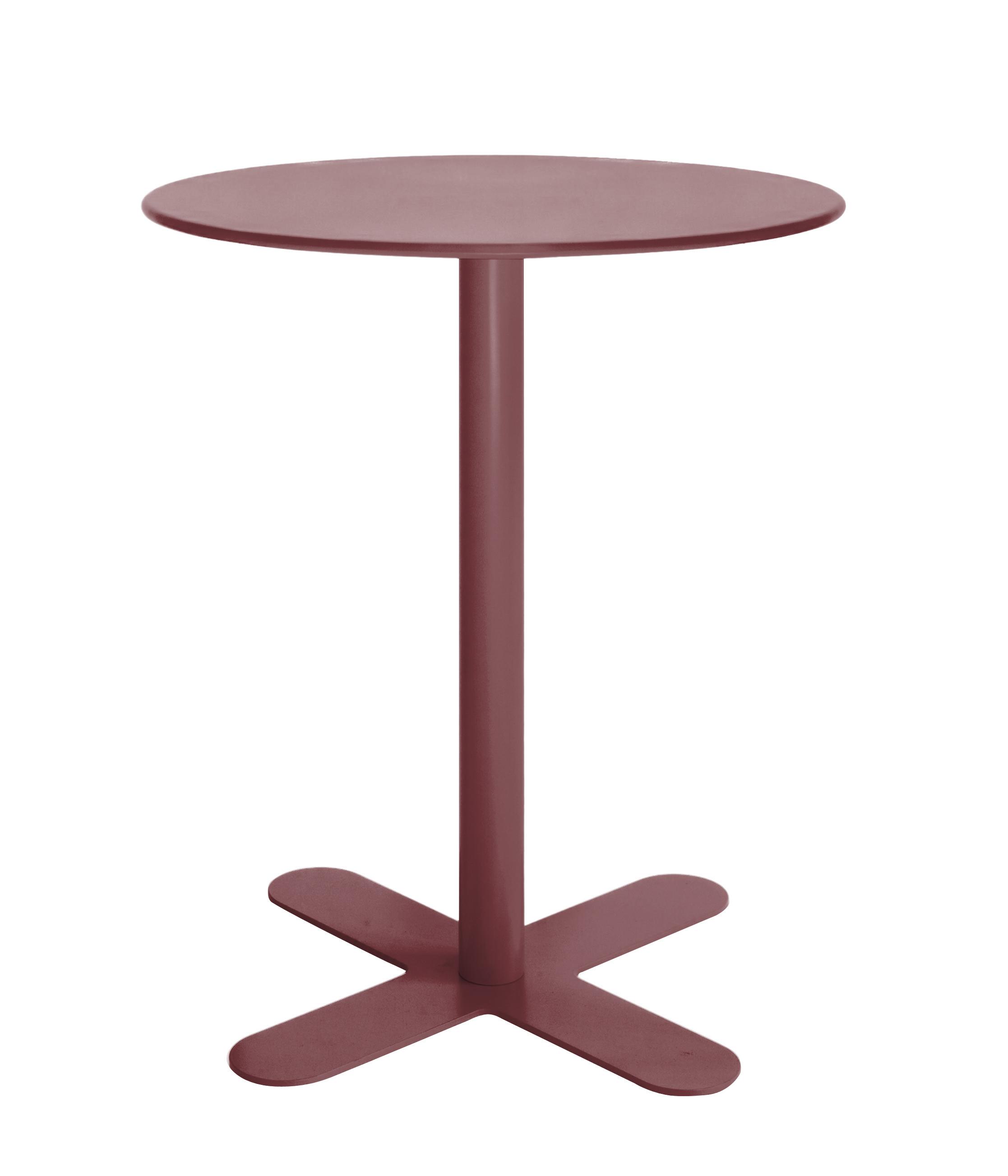 Table en acier rouge