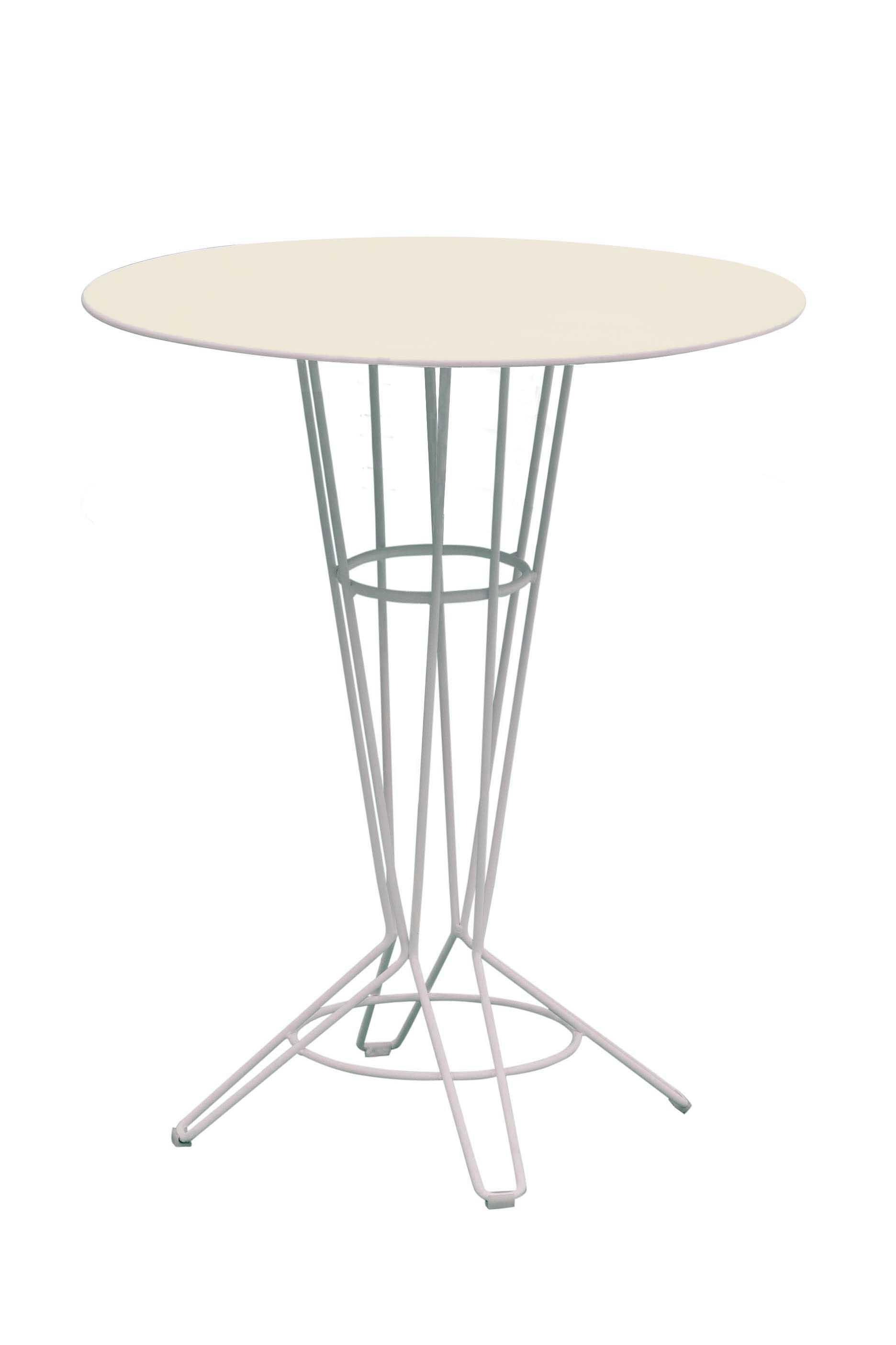 NOSTRUM - Table haute en acier beige D80