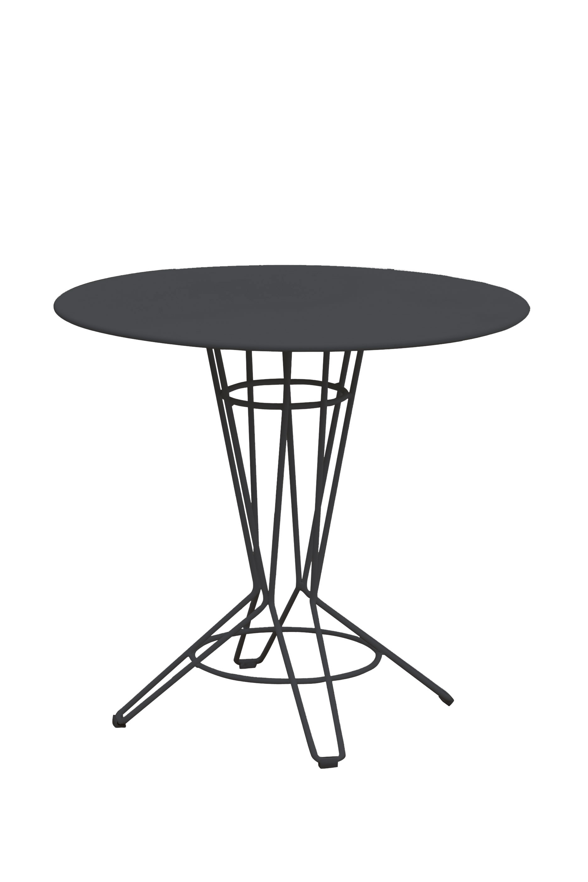 NOSTRUM - Table rond en acier gris anthracite D80