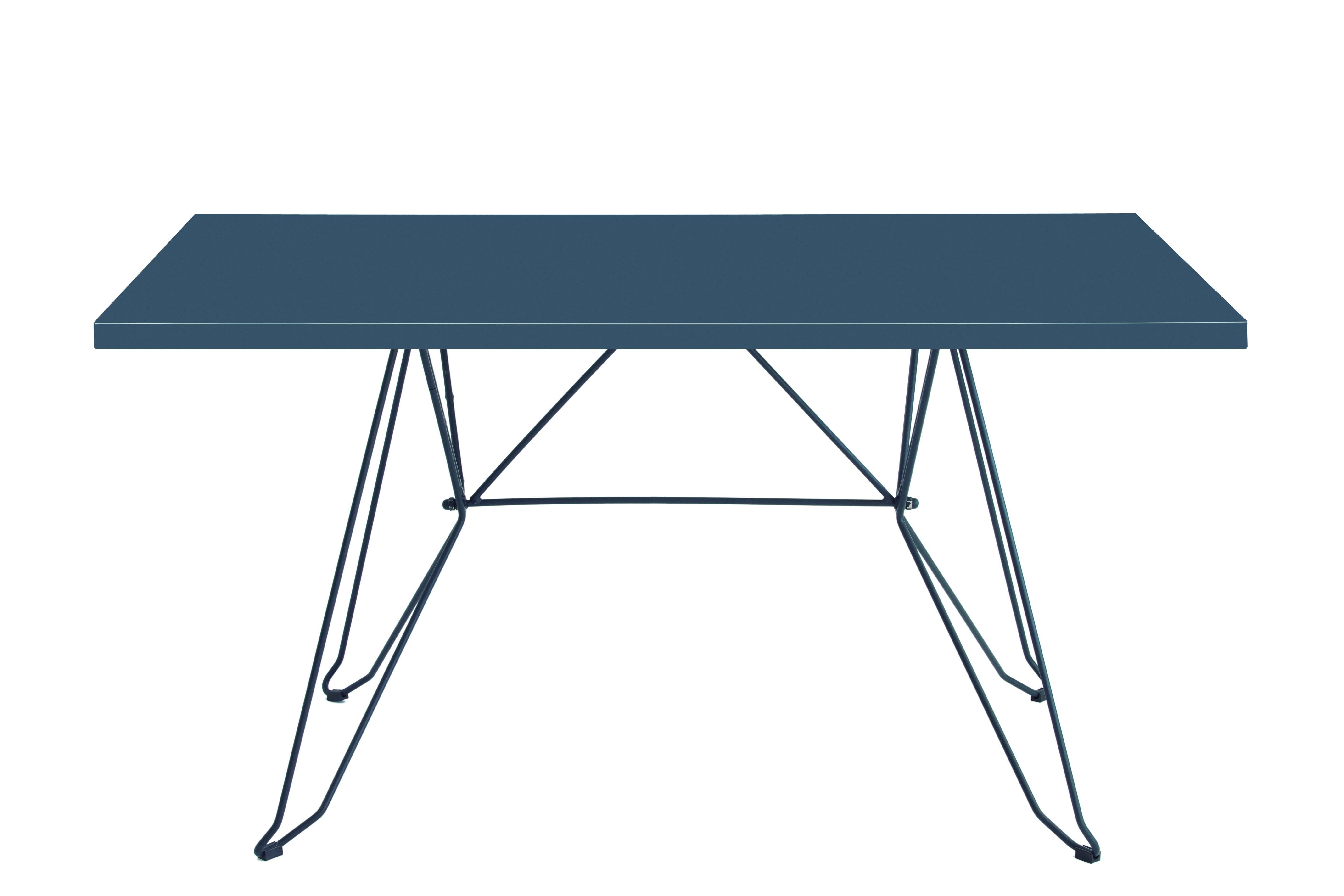 CADAQUÉS - Table 4 places en acier gris foncé