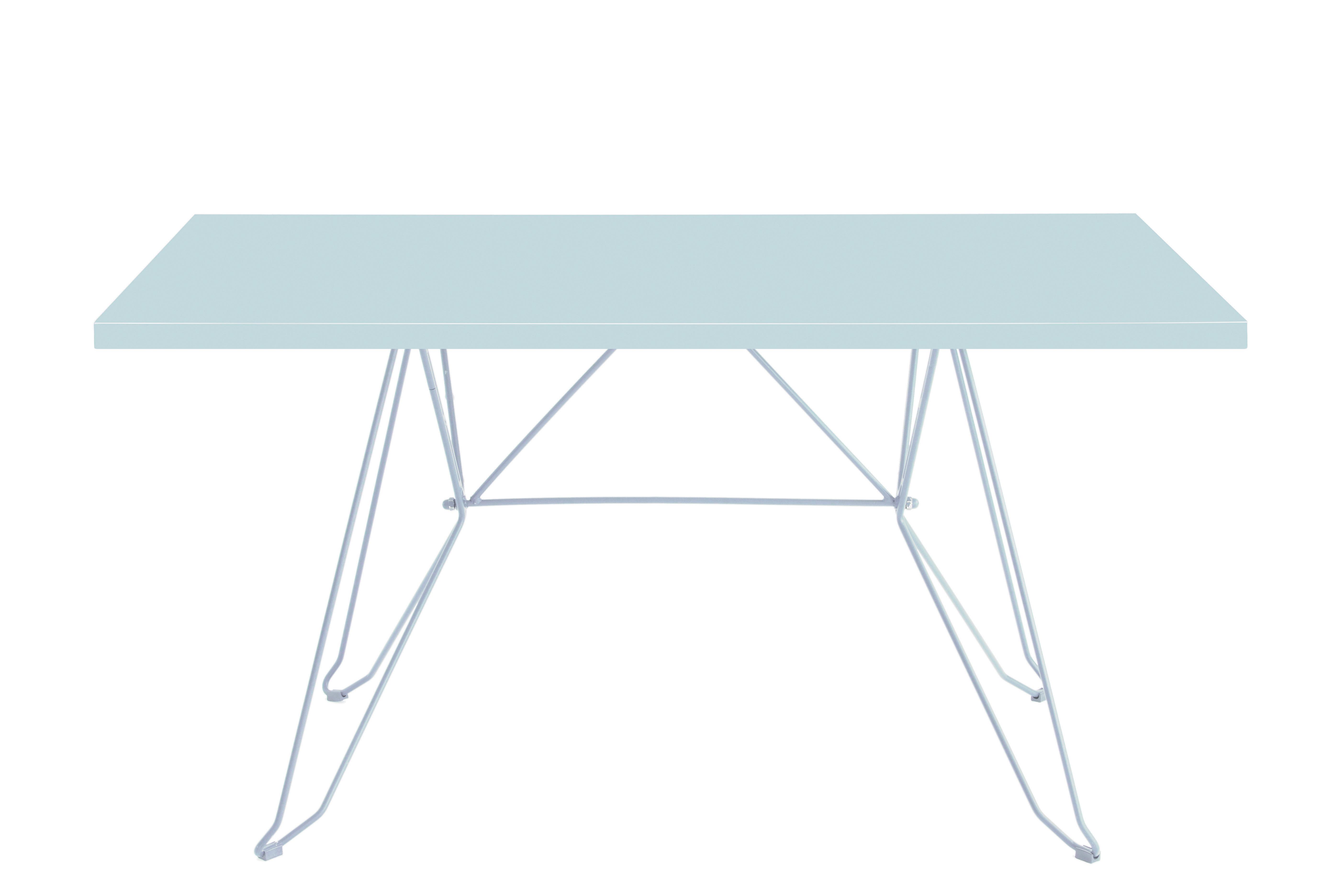 CADAQUÉS - Table 4 places en acier blanc