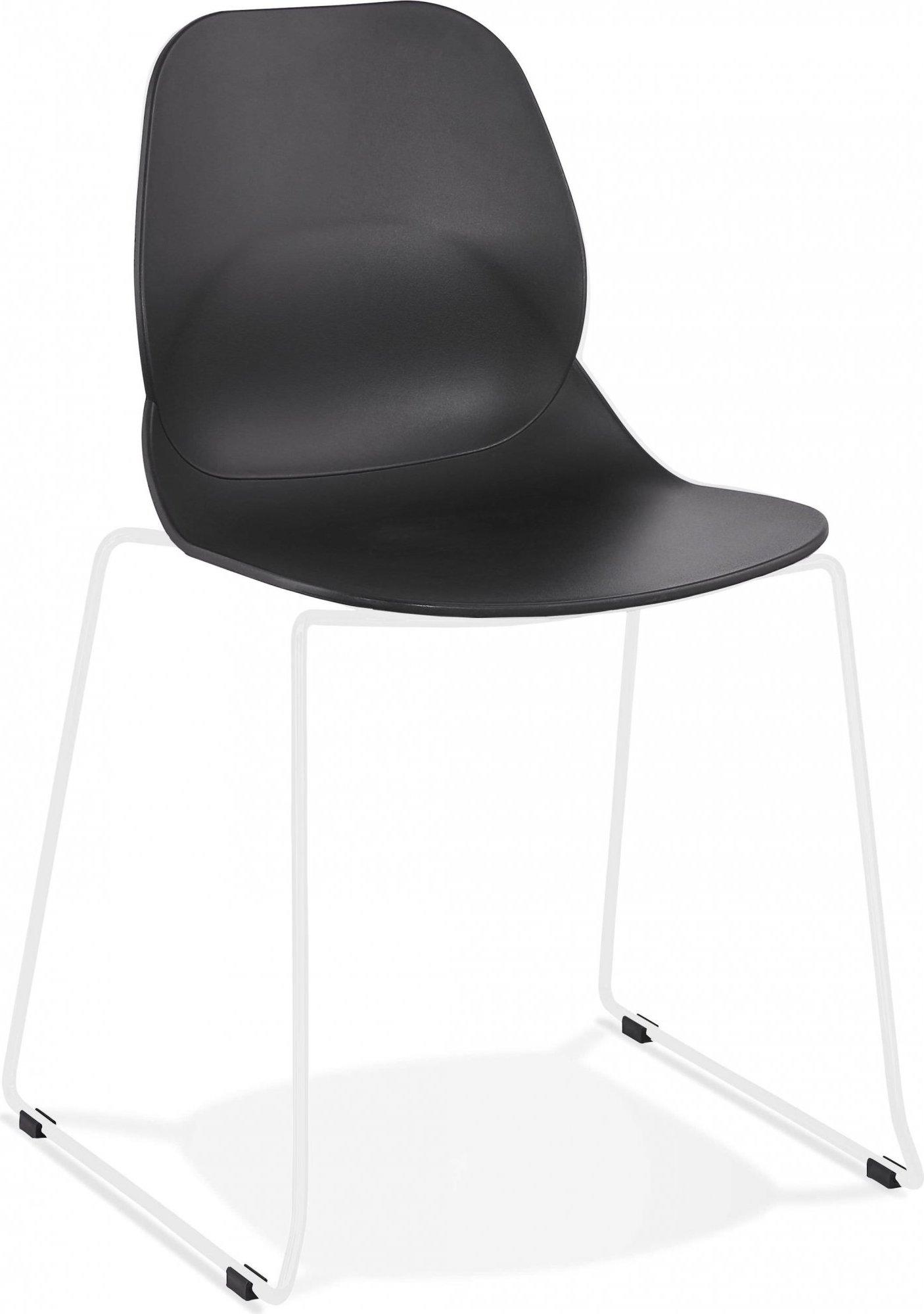 Chaise design minimaliste couleur noir pieds blanc