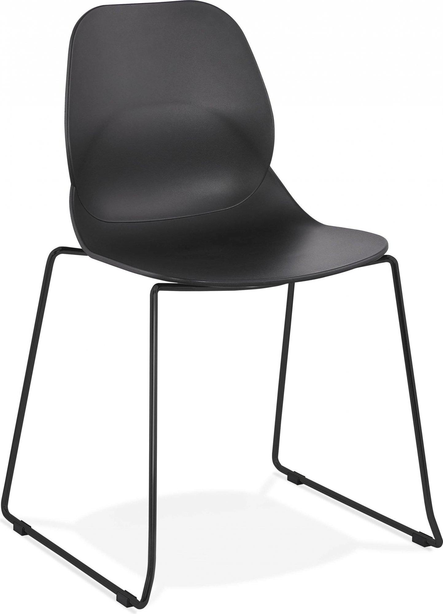 Chaise design minimaliste couleur noir