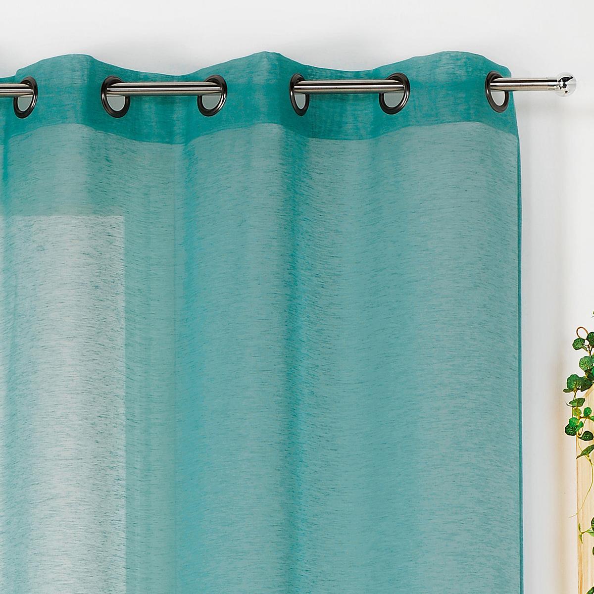 Voilage dépolluant et écologique polyester vert 240x145