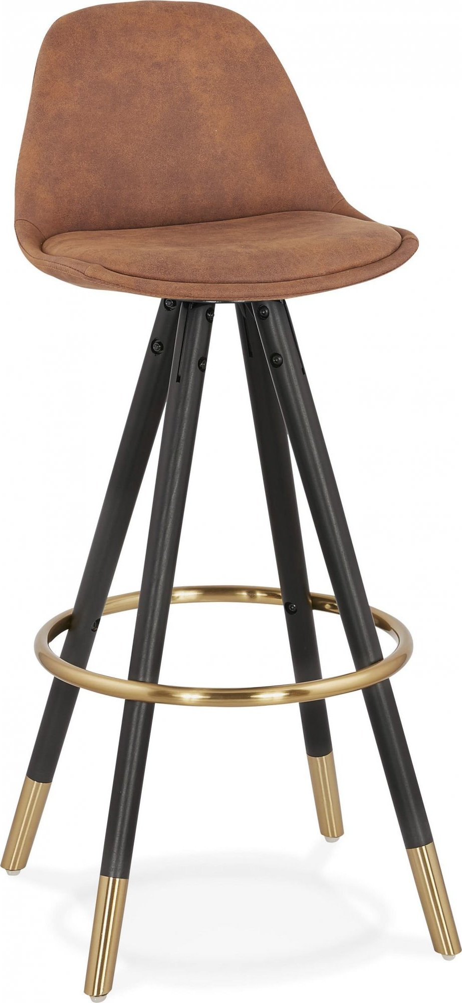 Tabouret de bar scandinave rembourrée velours marron