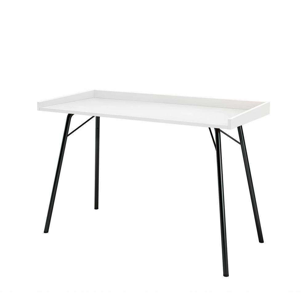 Bureau design métal et bois noir  et  blanc