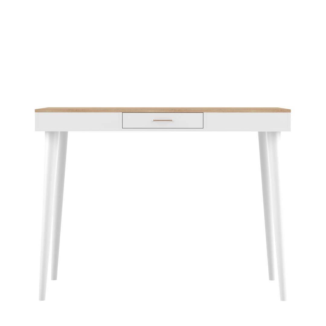 Table  effet bois Chêne naturel et blanc