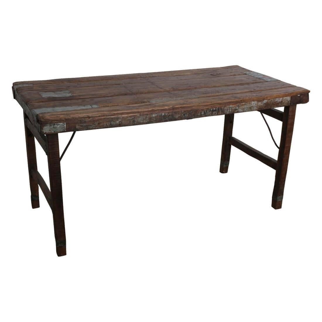 Table pliante bois marron