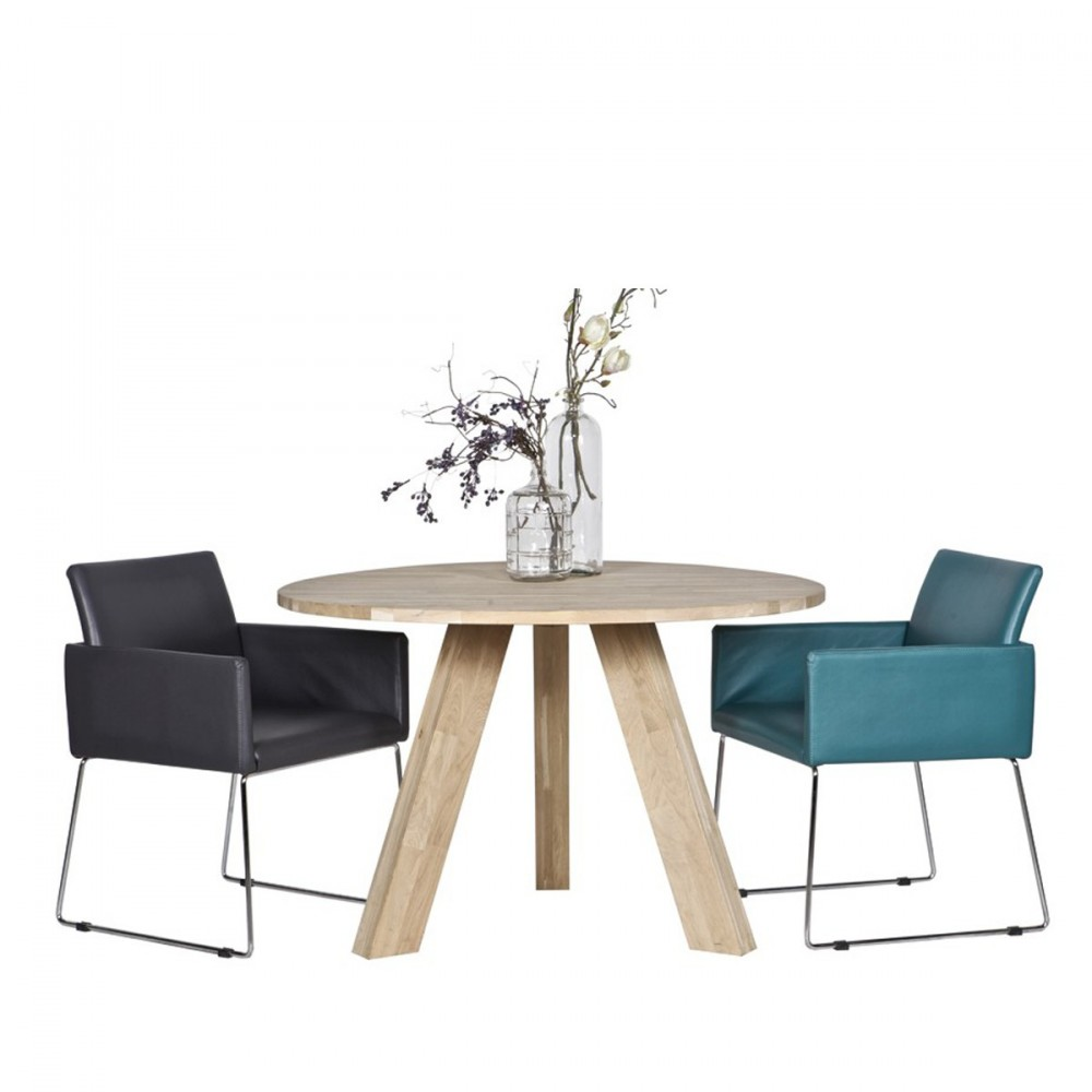 Table à manger ronde D130cm en chêne