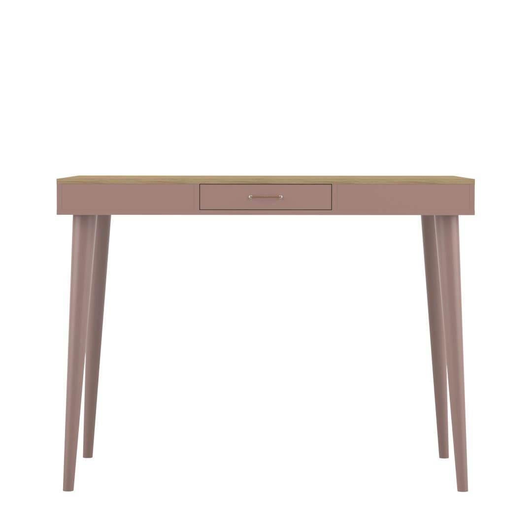 Table  effet bois Chêne clair et rose poudré