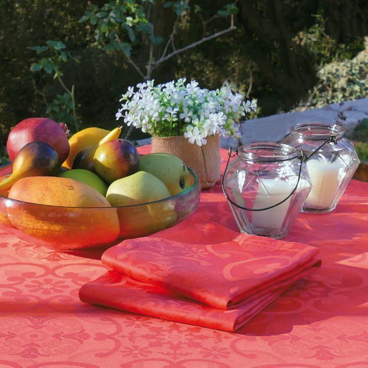 Serviette de table en 100% coton rouge 47x47