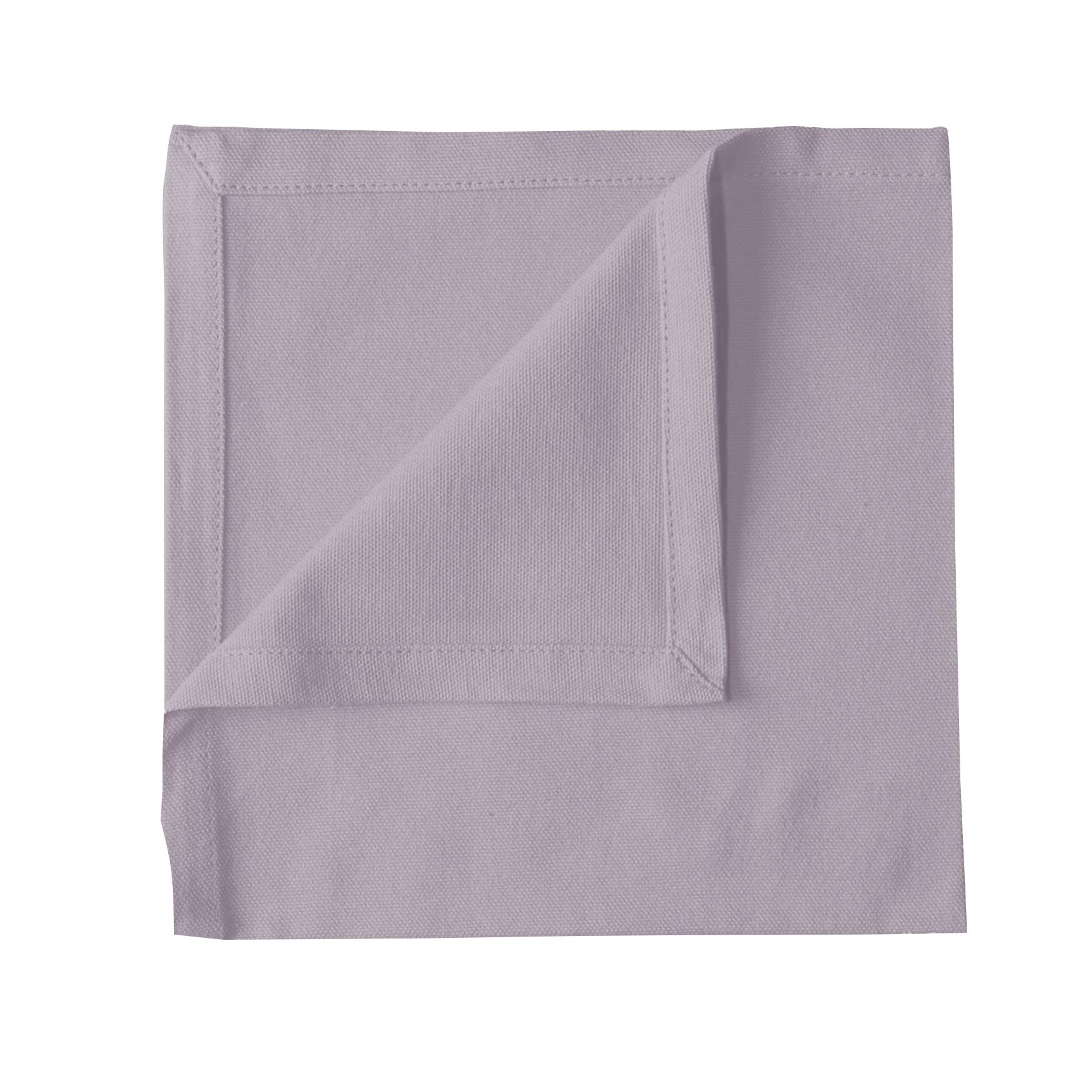 Serviette de table en 100% coton violet 40x40