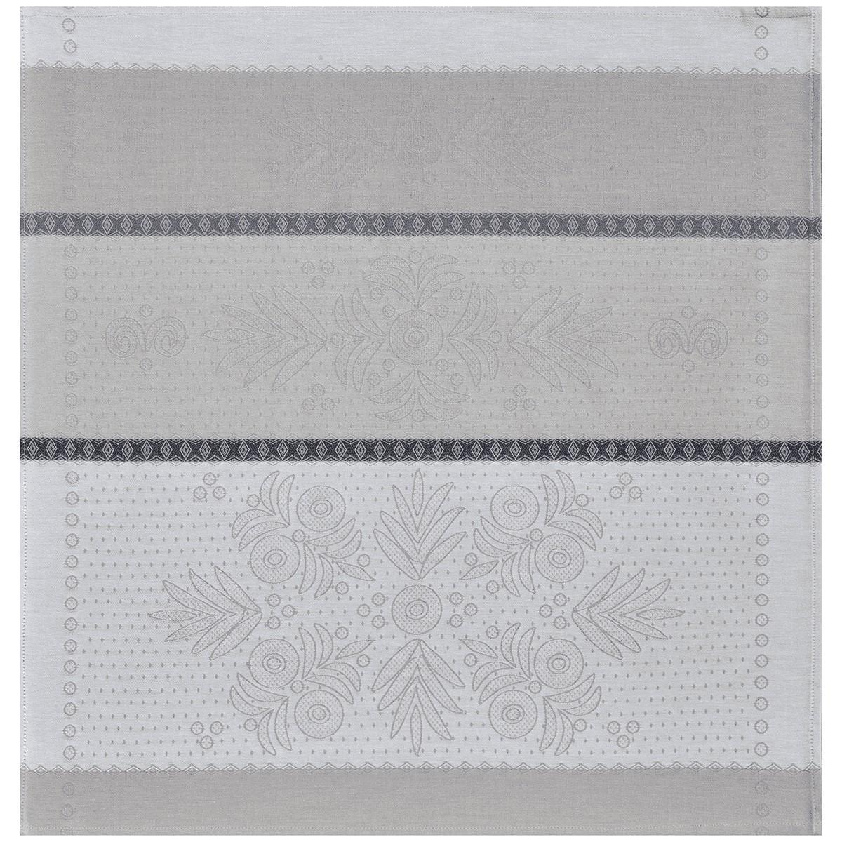 VENT D'OUEST - Serviette de table en 100% coton gris 58x58