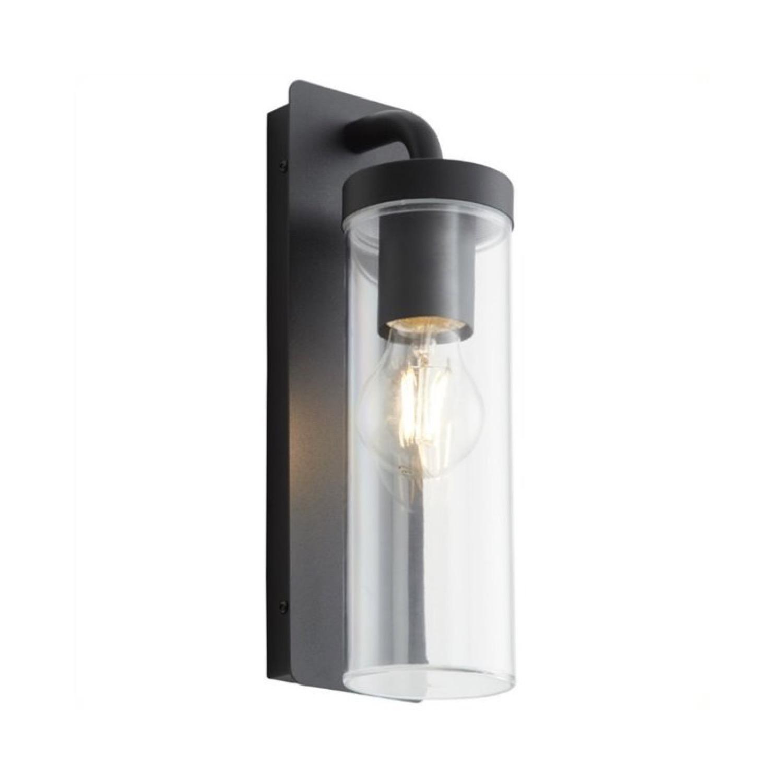 Applique d'extérieur métal/verre H30cm