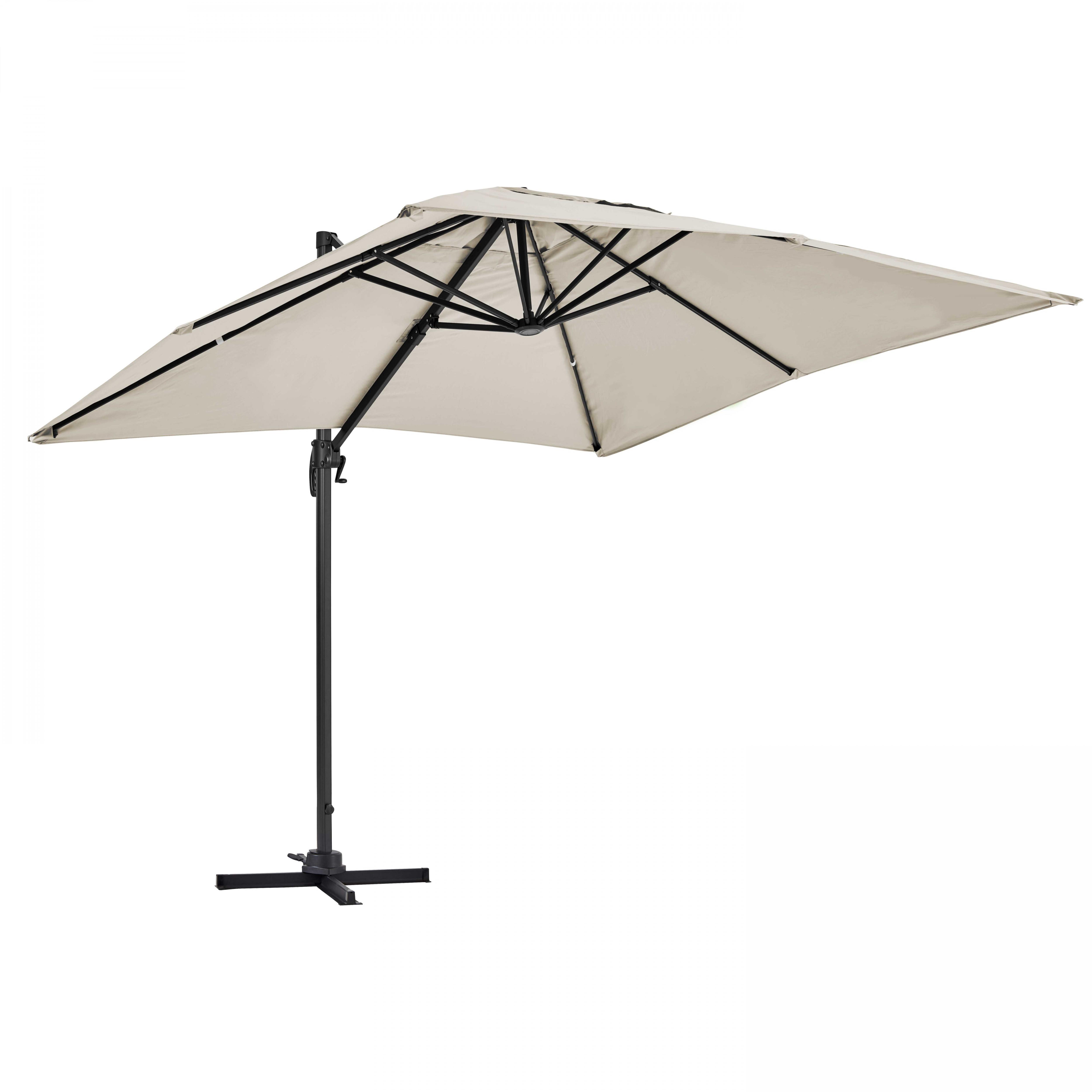 Parasol déporté rectangulaire 2x3m écru