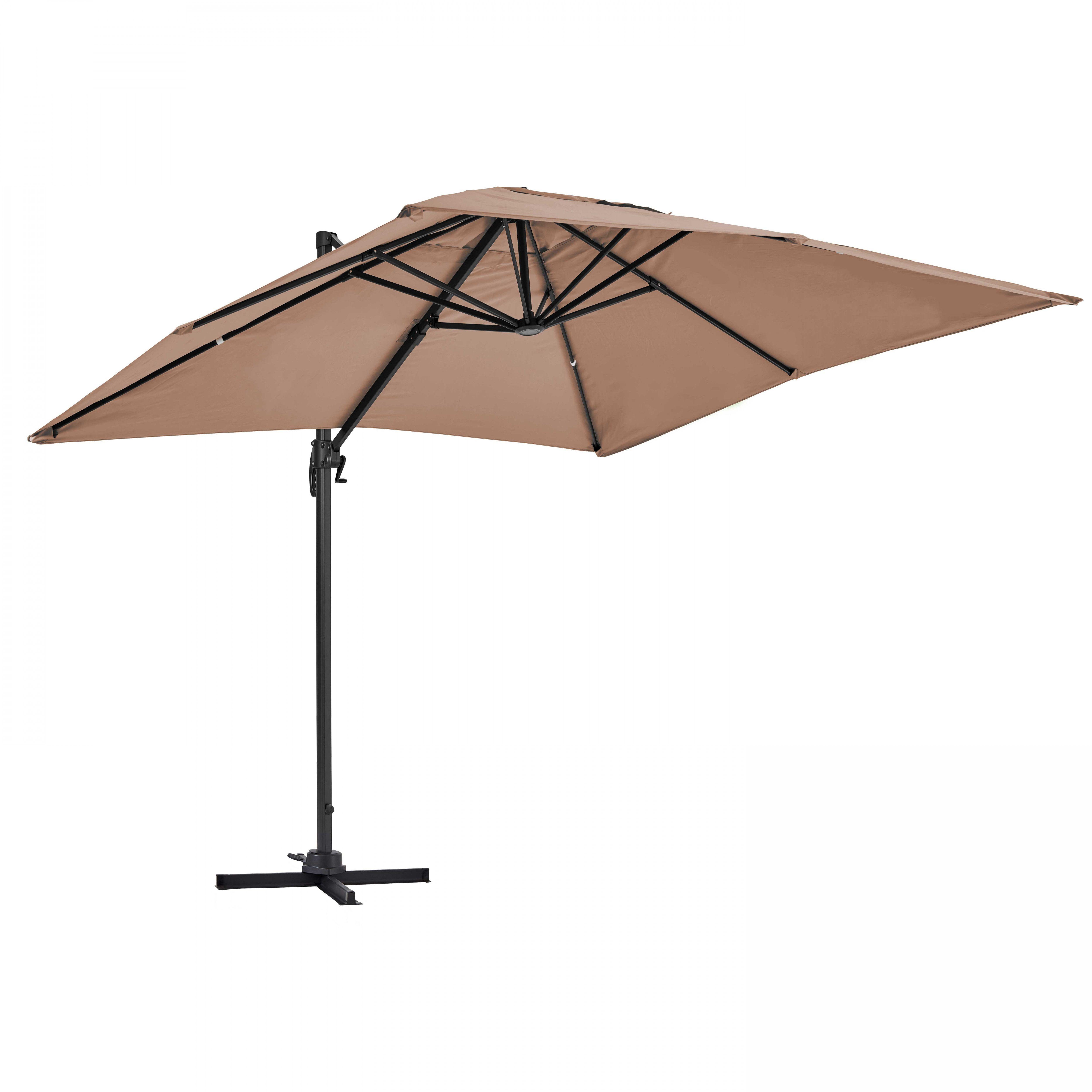 Parasol déporté rotatif, structure en aluminium, 2x3m modèle Amalya