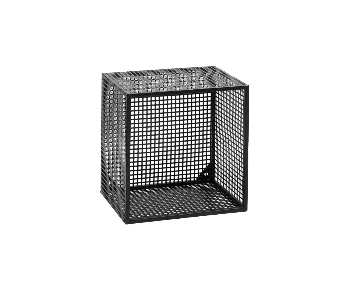 Etagère à fixer carrée en métal noir