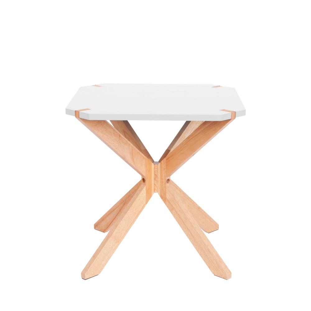 Table d'appoint en bois blanc