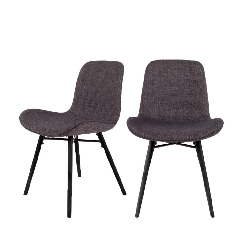 2 chaises design gris anthracite