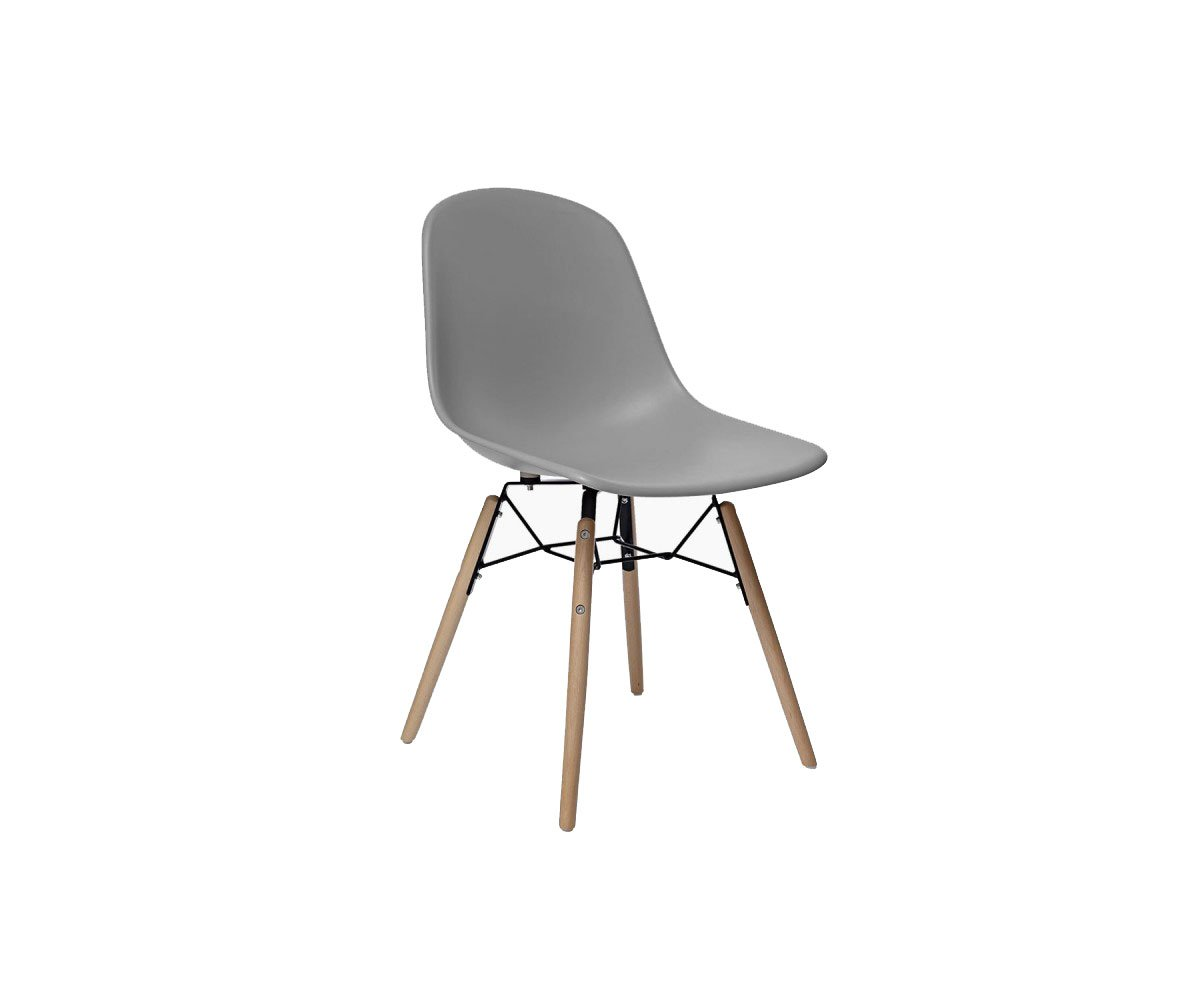 2 chaises scandinaves Gris
