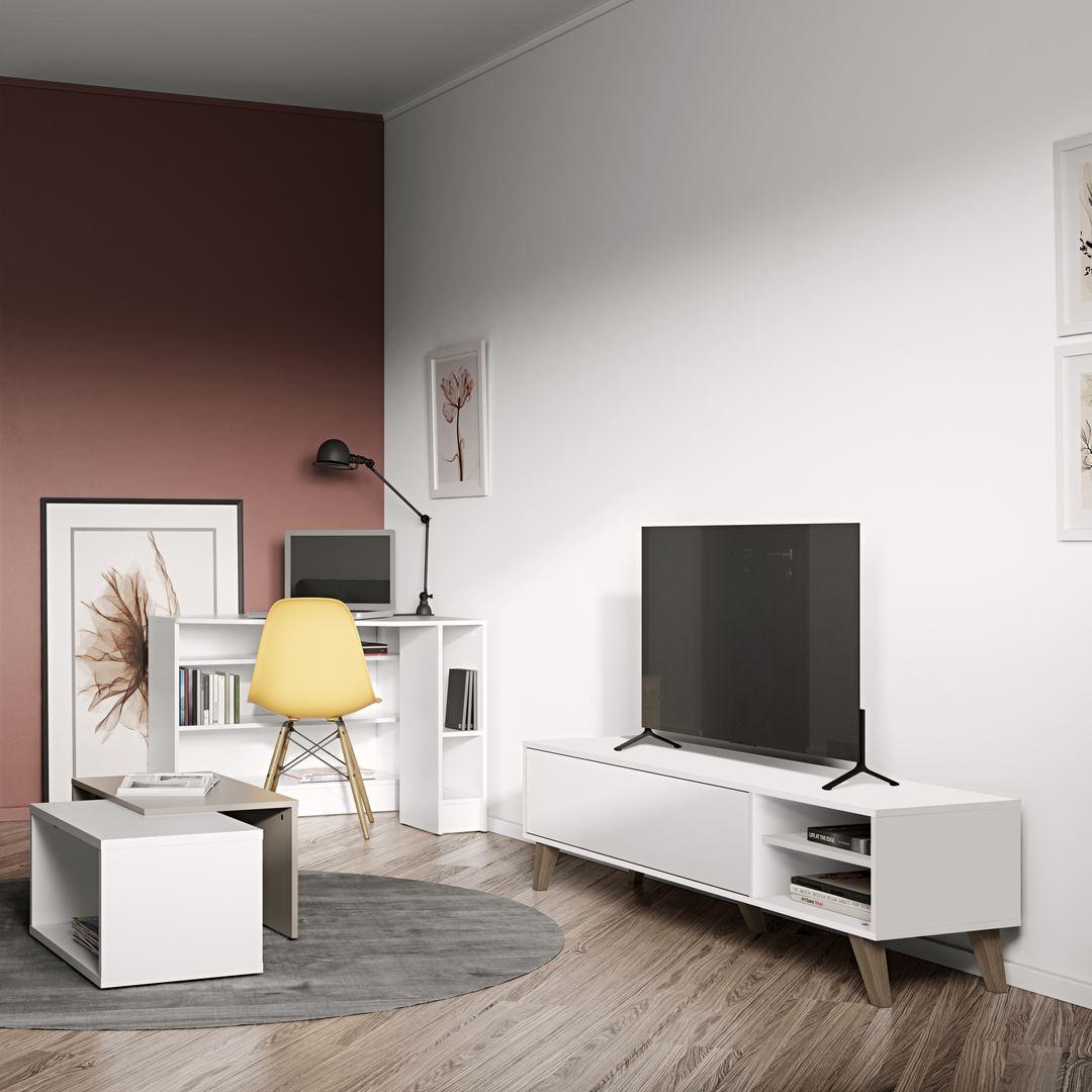 Meuble TV, Blanc PRISM