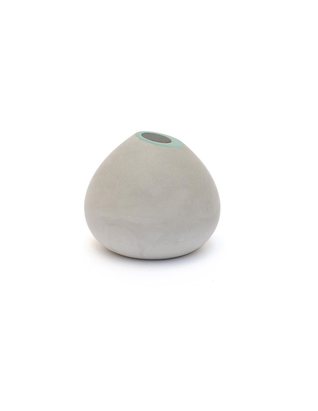 Soliflore en béton beryl green
