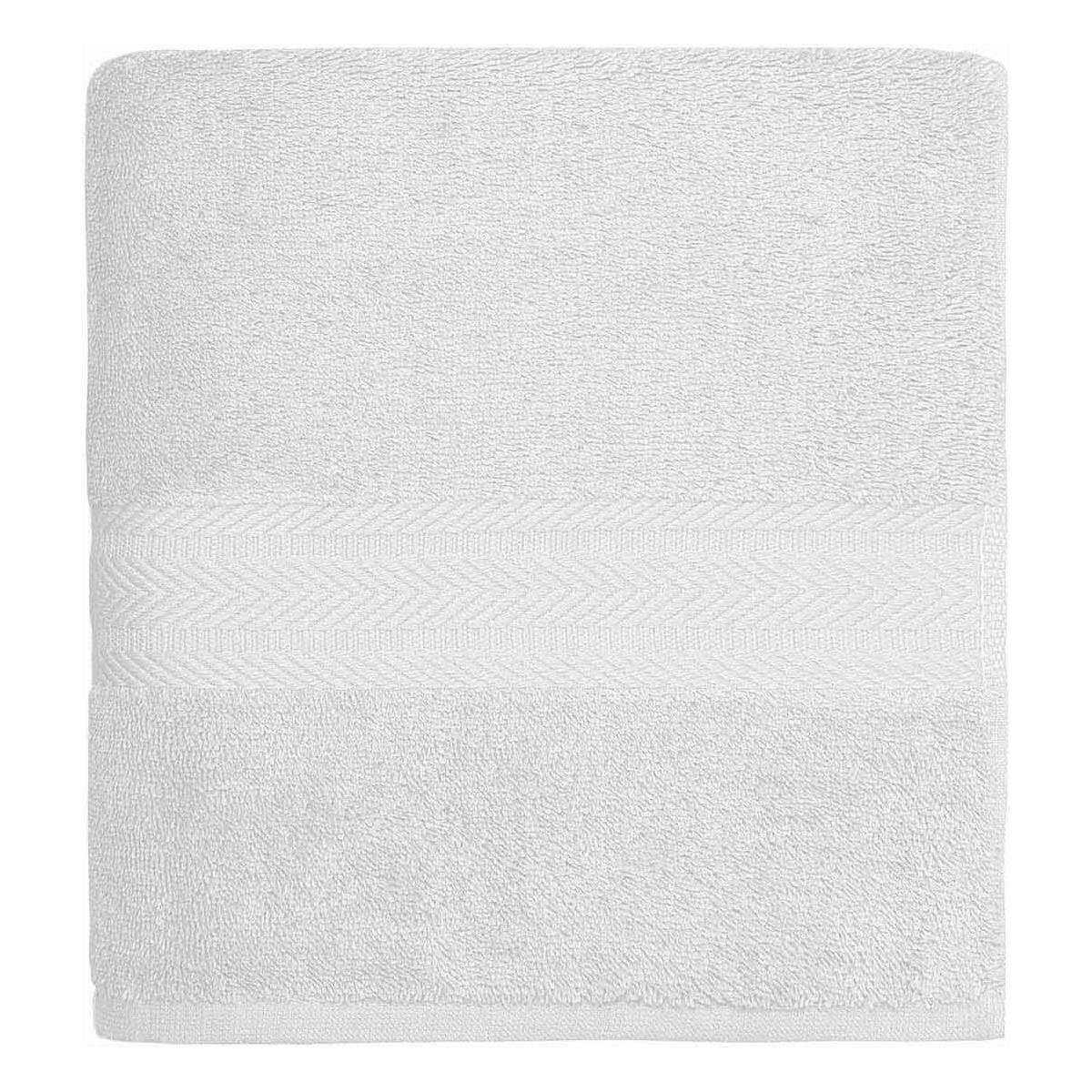 Drap de bain 550gr/m²  Blanc 70x140 cm