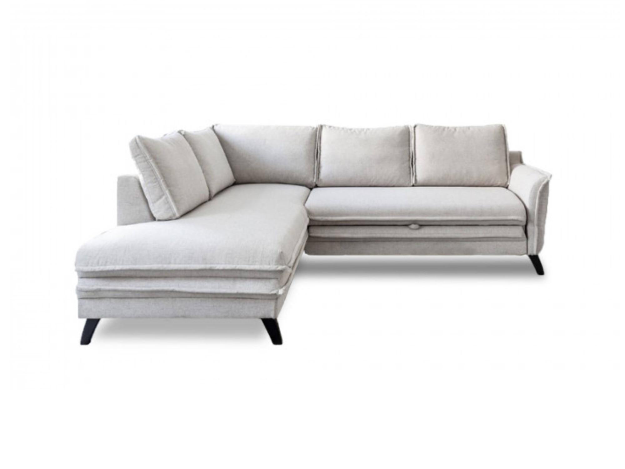 Canapé d'angle 5 places Beige Tissu Contemporain Confort