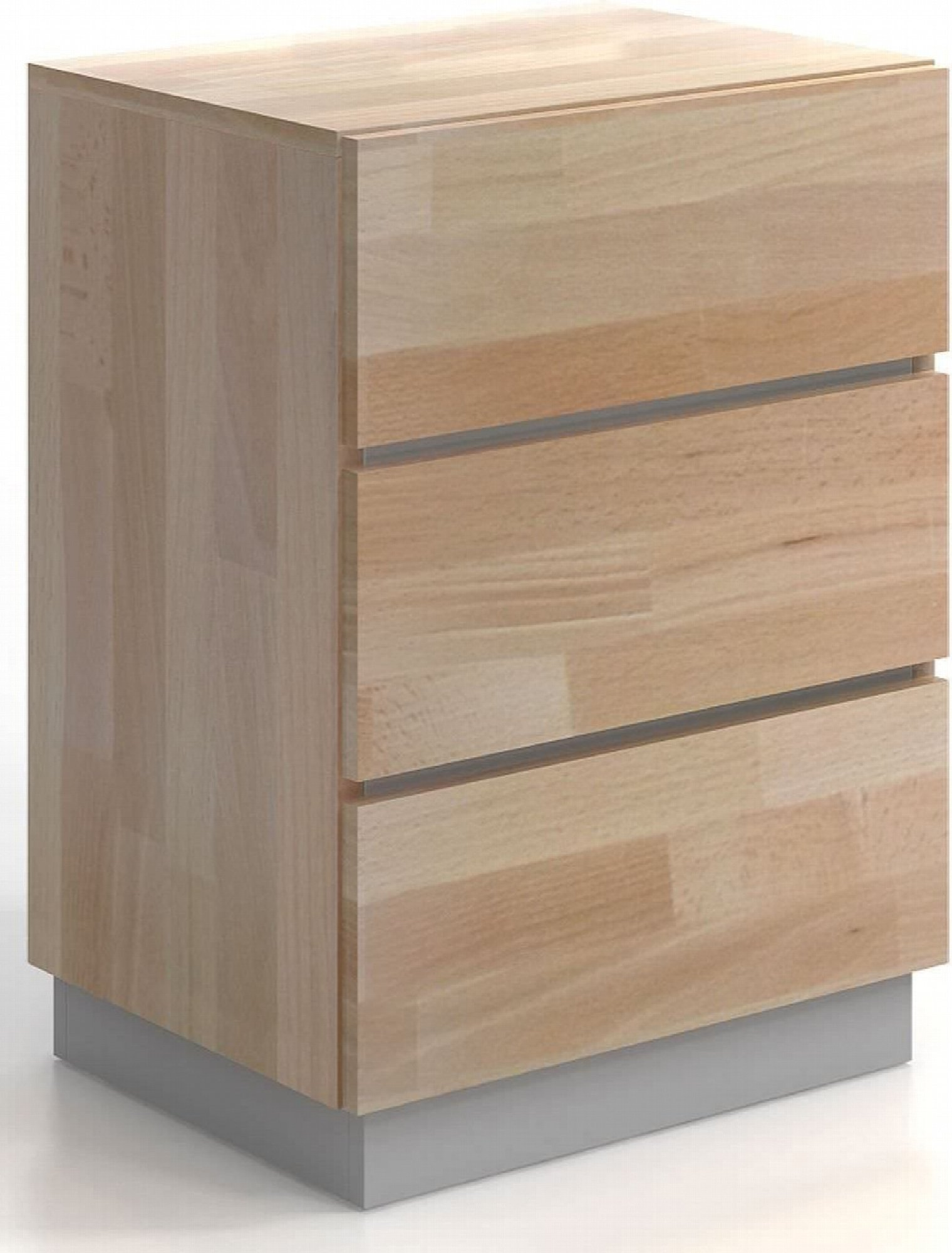 Commode en bois 3 tiroirs couleur bois clair