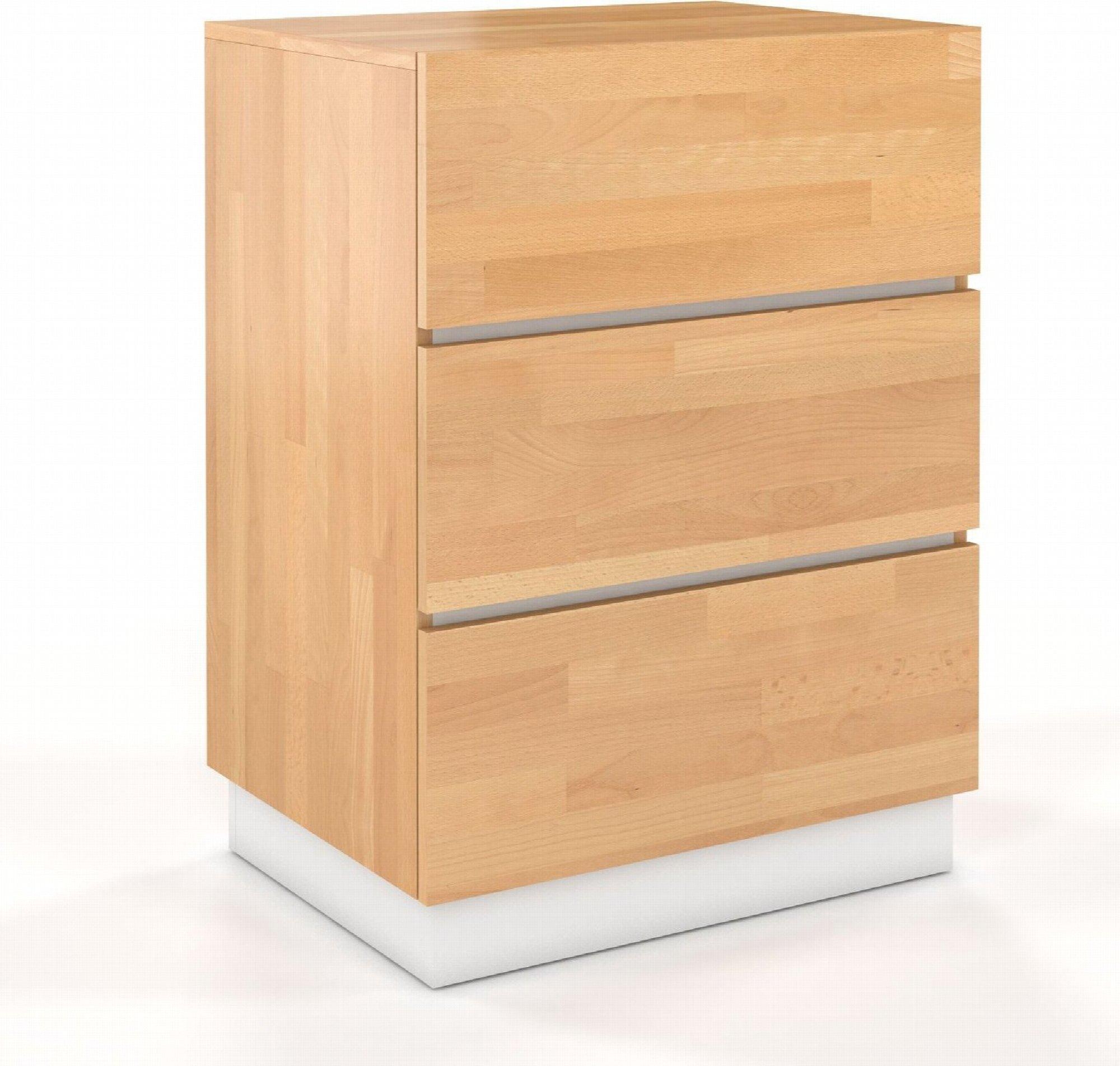 Commode en bois 3 tiroirs couleur bois chêne