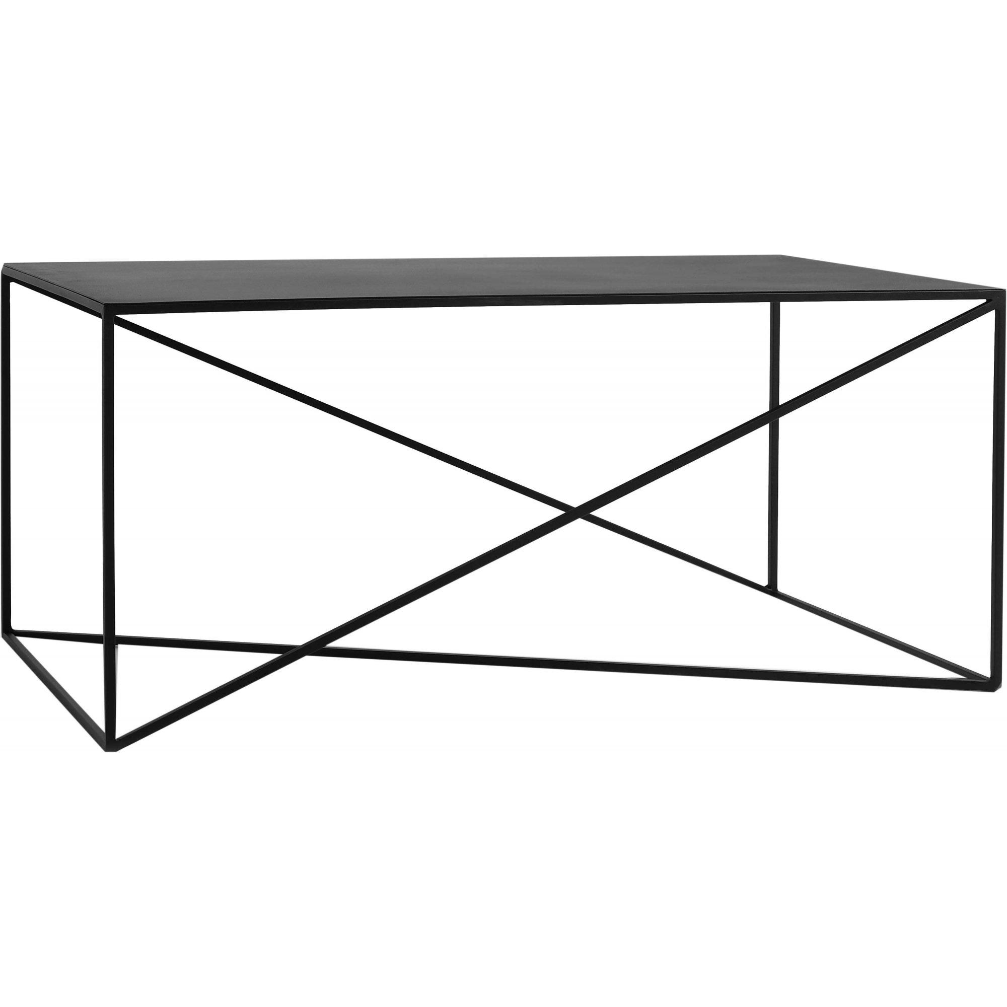 maison du monde Table basse rectangulaire en métal noir l100cm