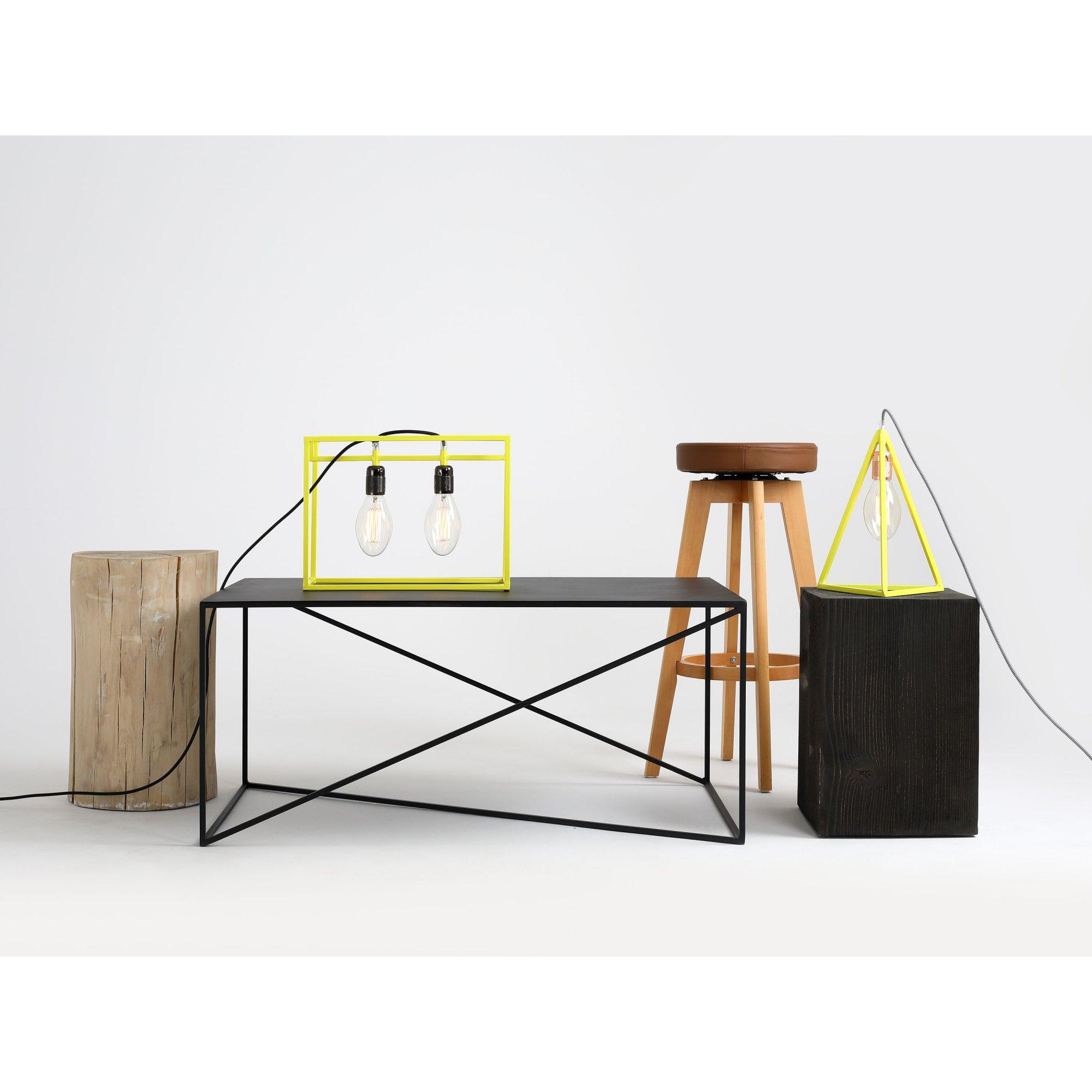 Table basse rectangulaire en métal noir l100cm