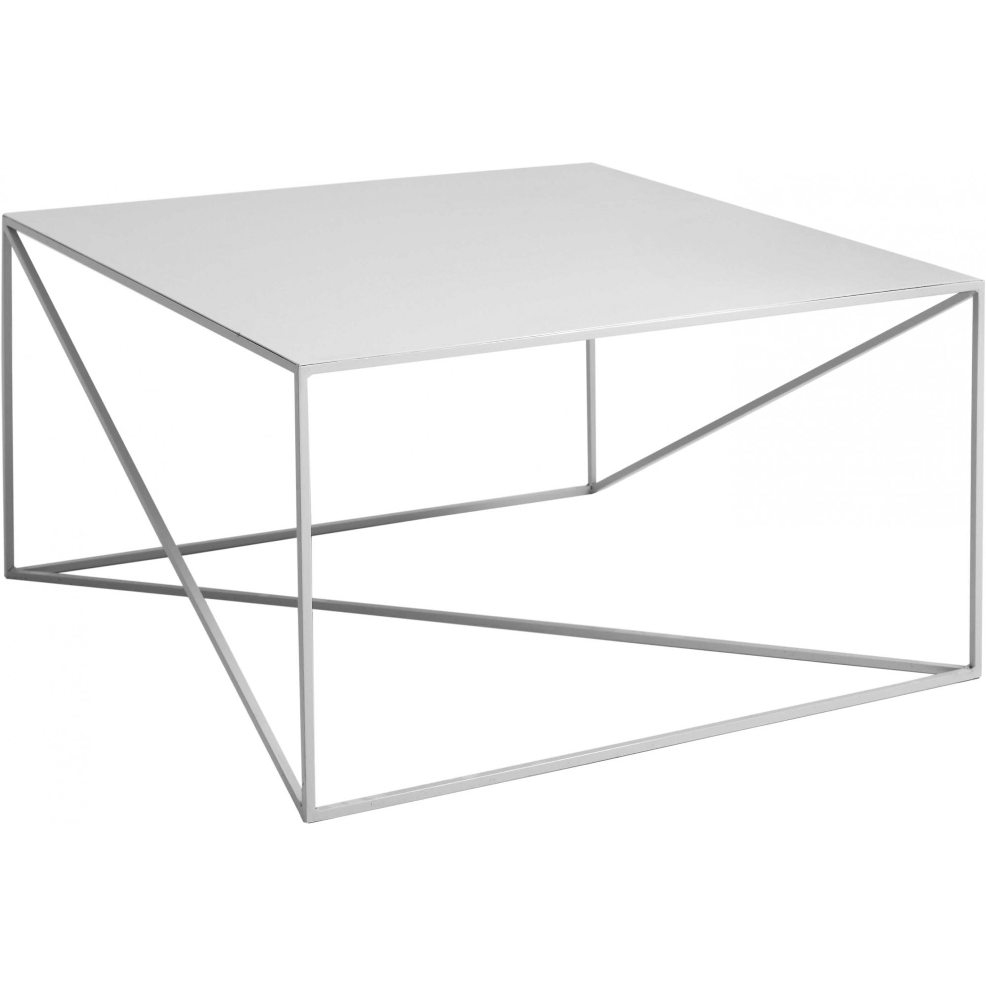 maison du monde Table basse carré en métal gris l80cm