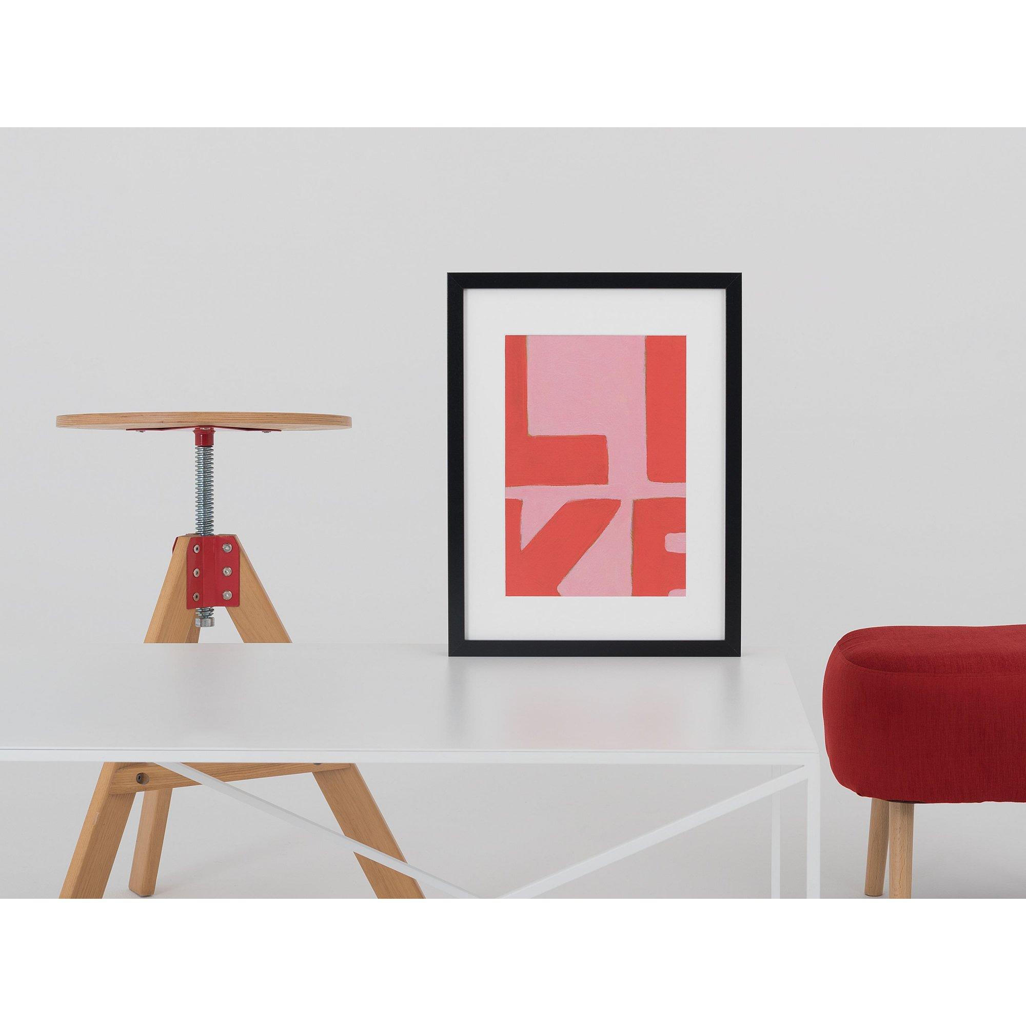 Table basse rectangulaire en métal blanc l100cm