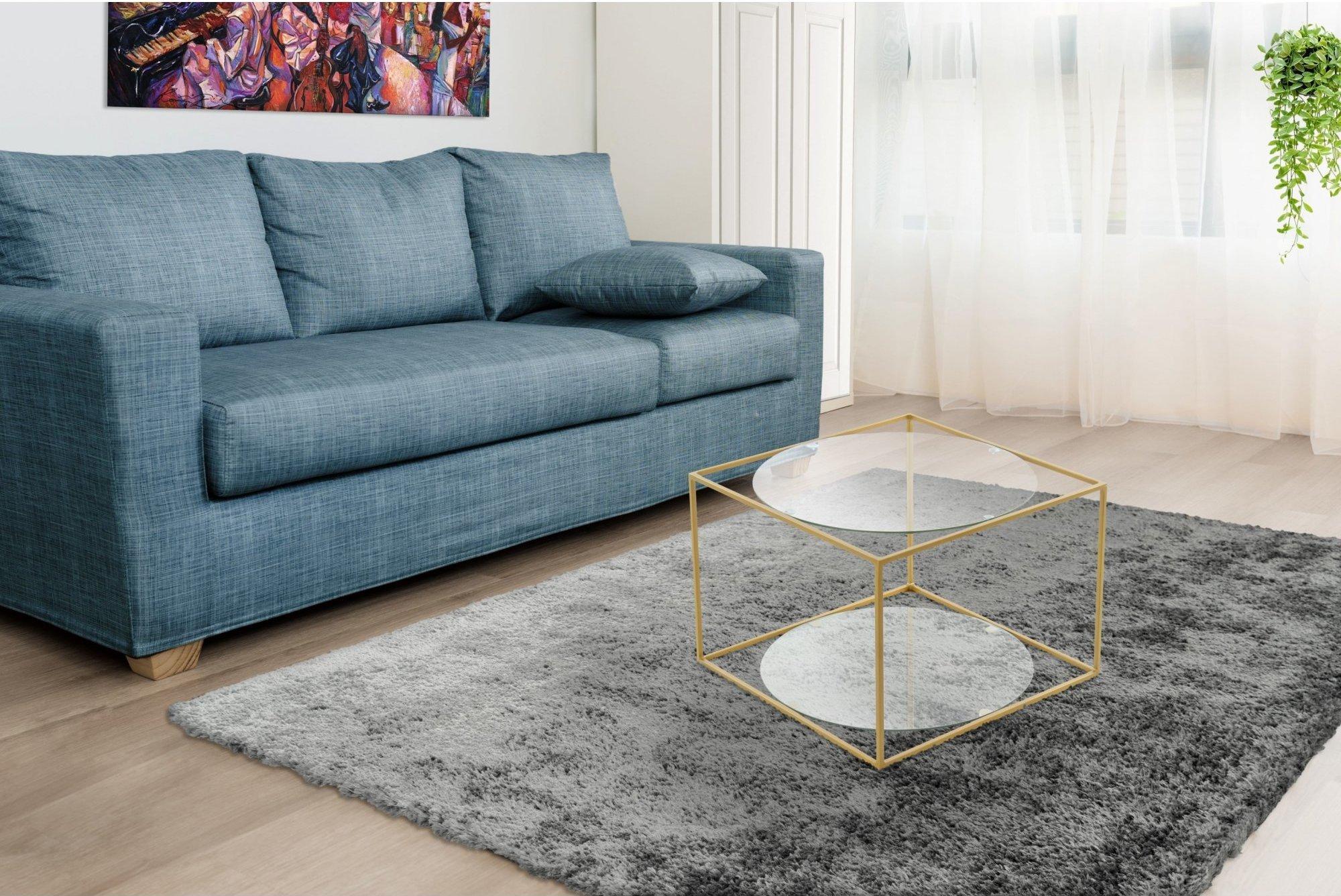 Table basse rectangulaire plateau verre l50cm