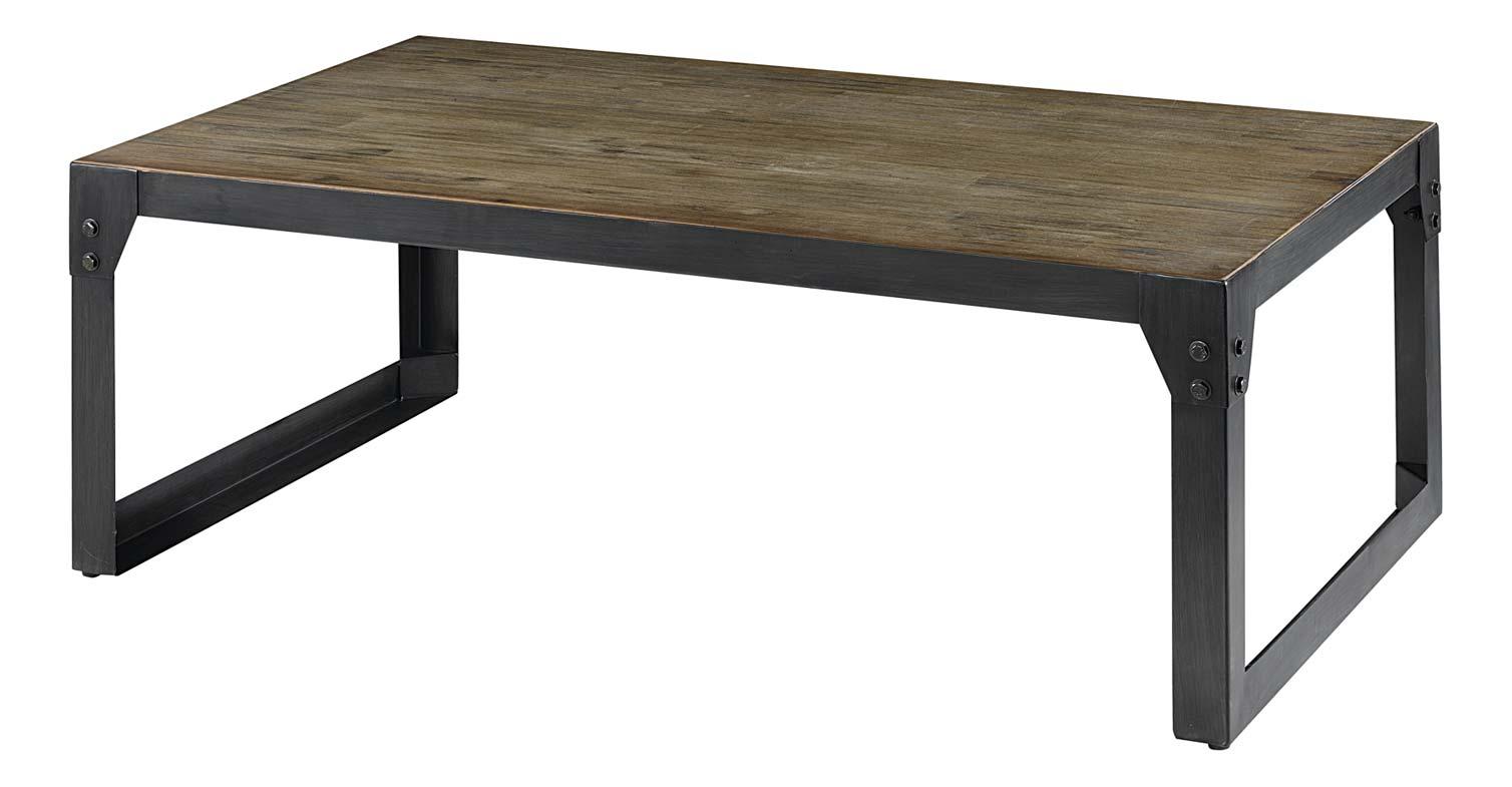 Table basse acacia métal 120 cm Factory