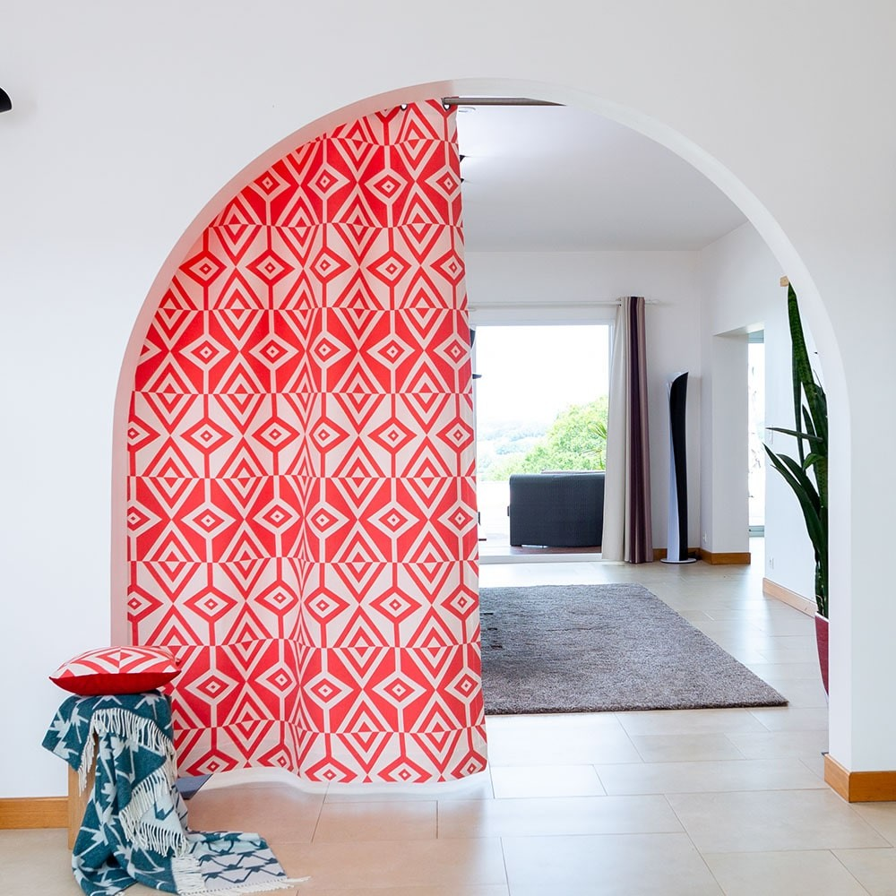 Rideau rouge 150x250