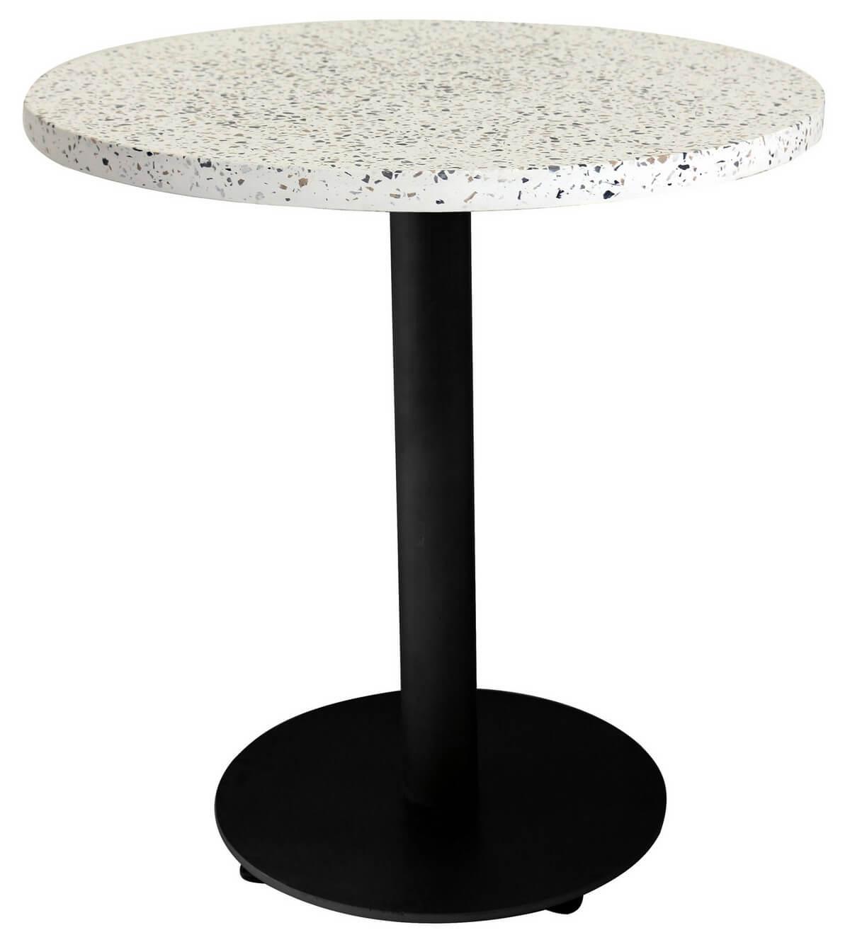 maison du monde Table design de repas noire granito